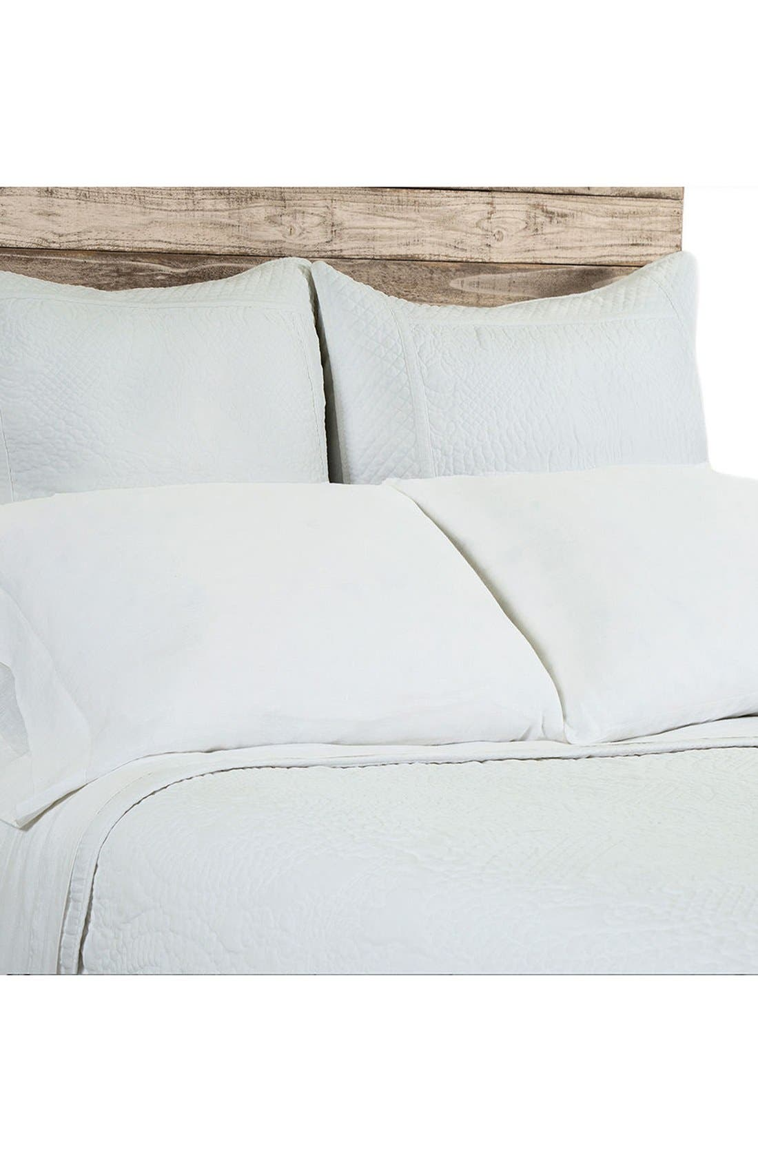 Marseille Coverlet,                         Main,                         color, White