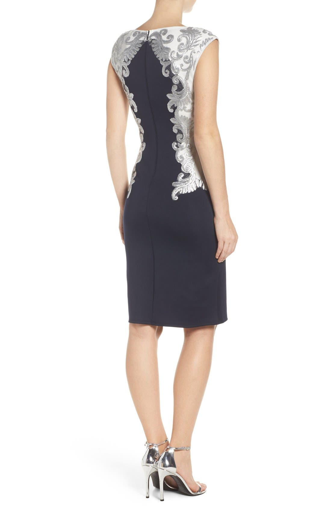 Alternate Image 3  - Tadashi Shoji Sequin Neoprene Dress (Regular & Petite)