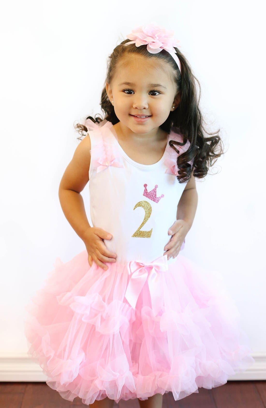 Alternate Image 2  - Popatu Birthday Print Tutu Dress (Toddler Girls)