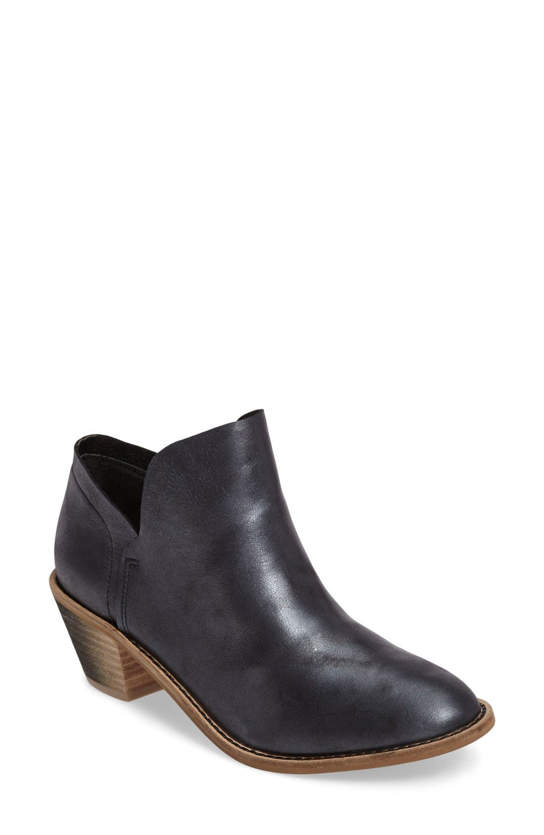 Kenmare Bootie,                             Main thumbnail 1, color,                             Black Leather