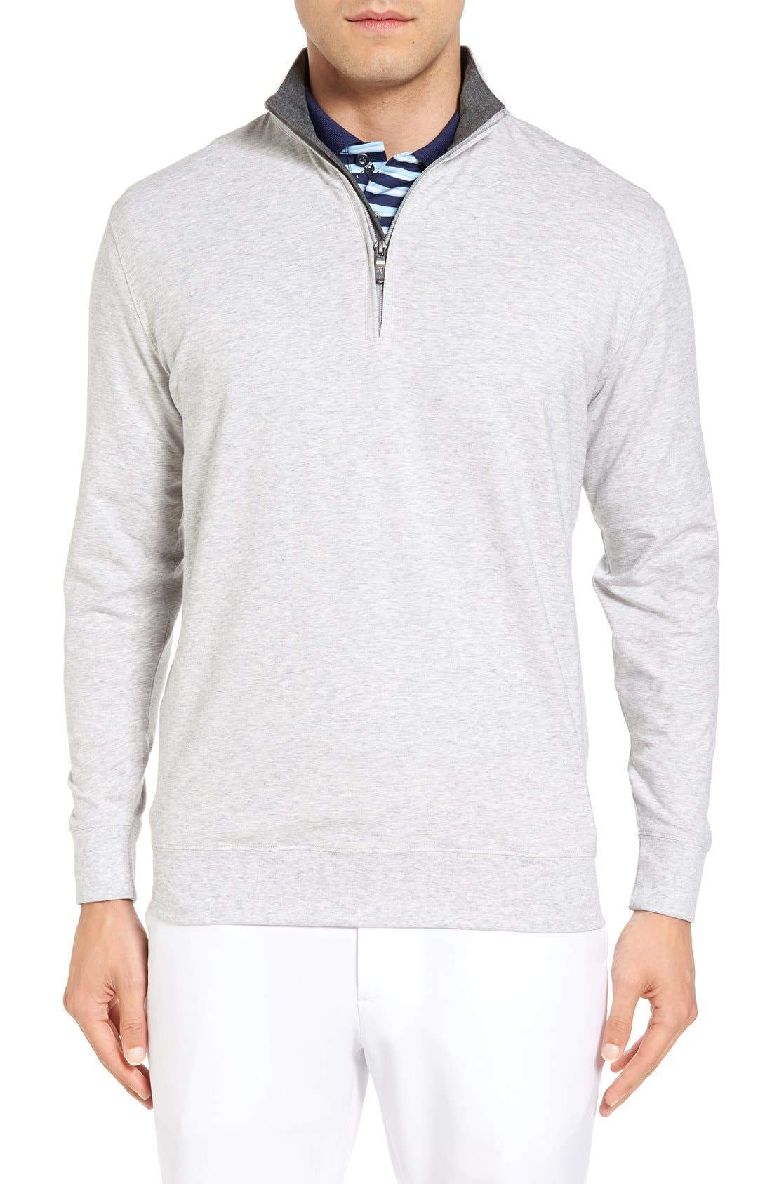 Alternate Image 1 Selected - Bobby Jones PTO Liquid Stretch Quarter Zip Pullover