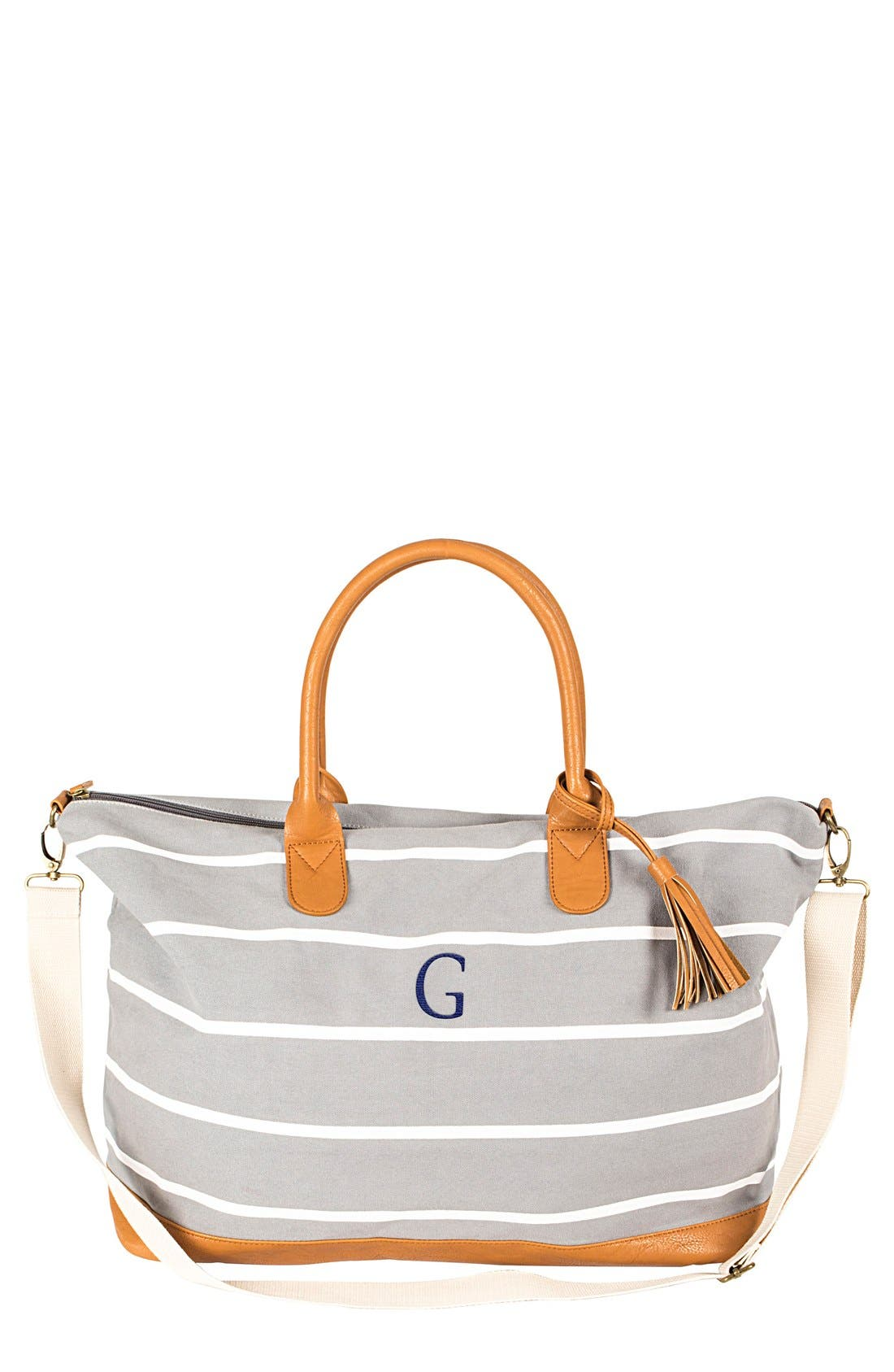 Monogram Oversized Tote,                         Main,                         color, Grey-G