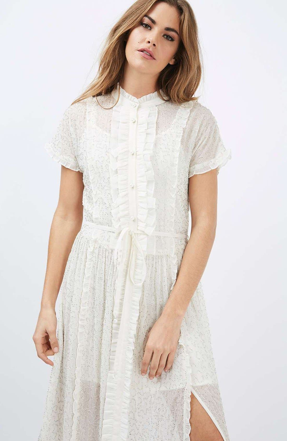 Alternate Image 2  - Topshop Embellished Shirtdress