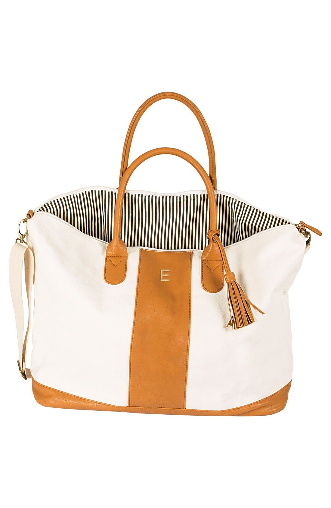 Alternate Image 2  - Cathy's Concepts Monogram Faux Leather Tote