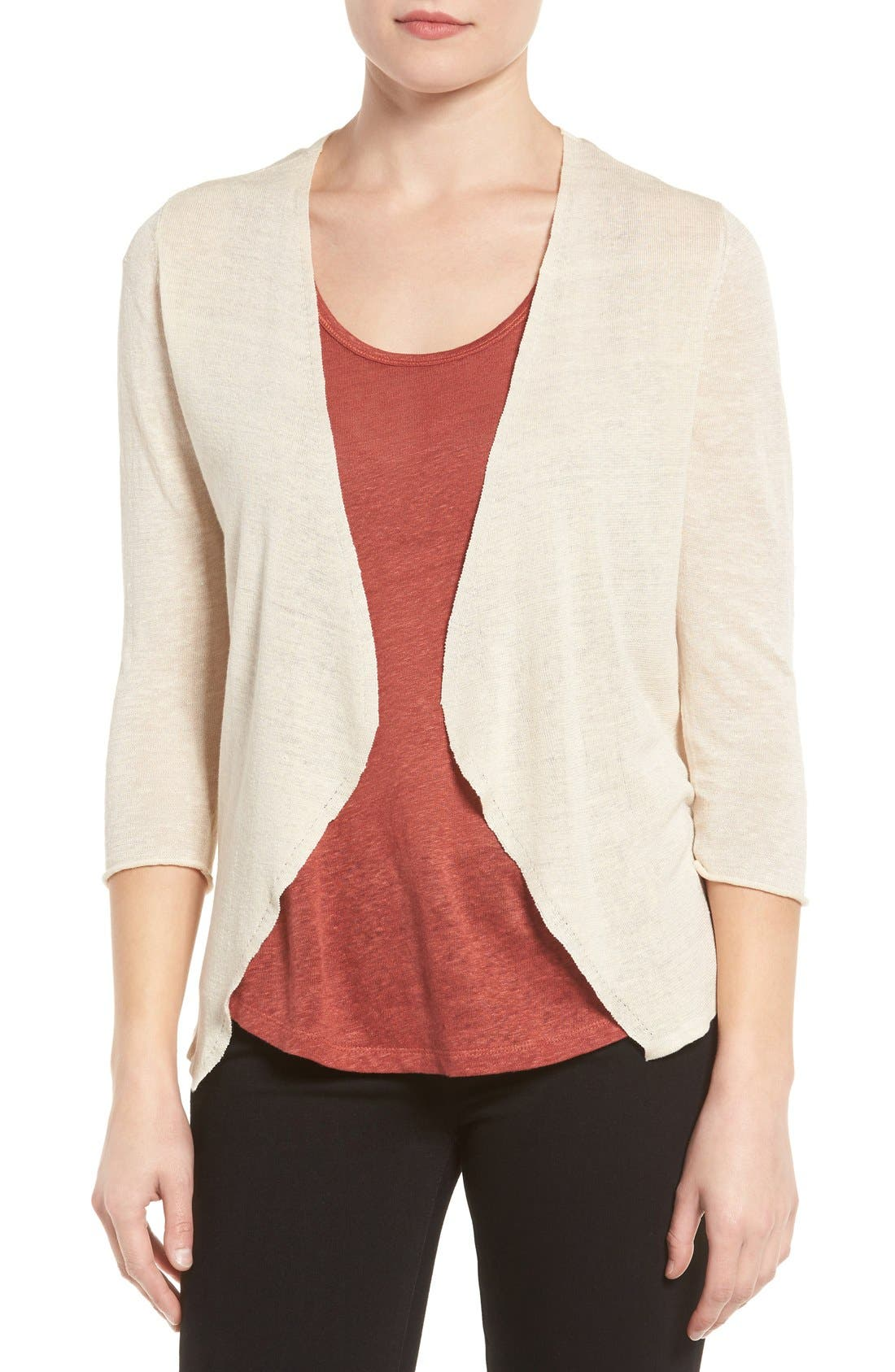 Open Blazer Cardigan,                         Main,                         color, Sand Shell