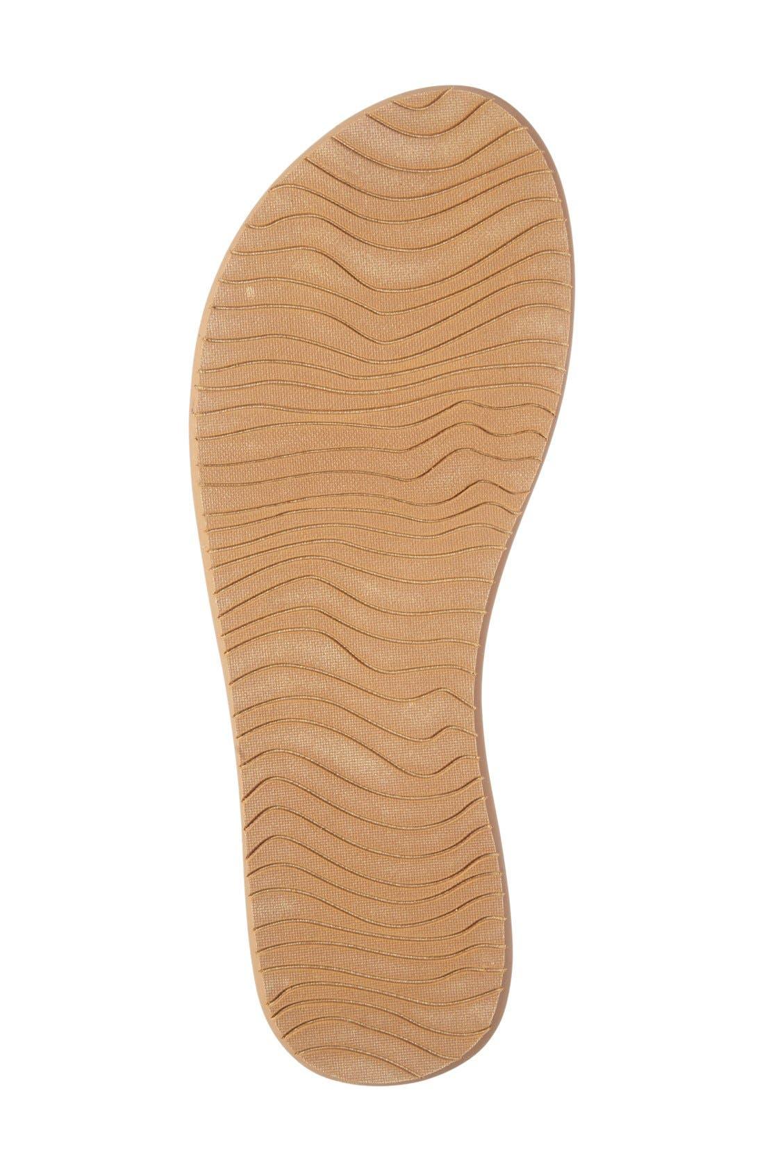 'Slim Ginger' Studded Flip Flop,                             Alternate thumbnail 4, color,                             Tan
