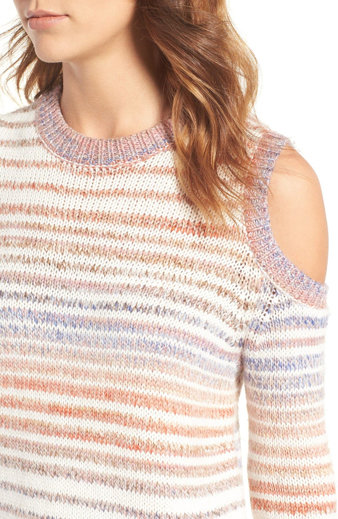 Alternate Image 4  - Rebecca Minkoff Page Stripe Cold Shoulder Sweater