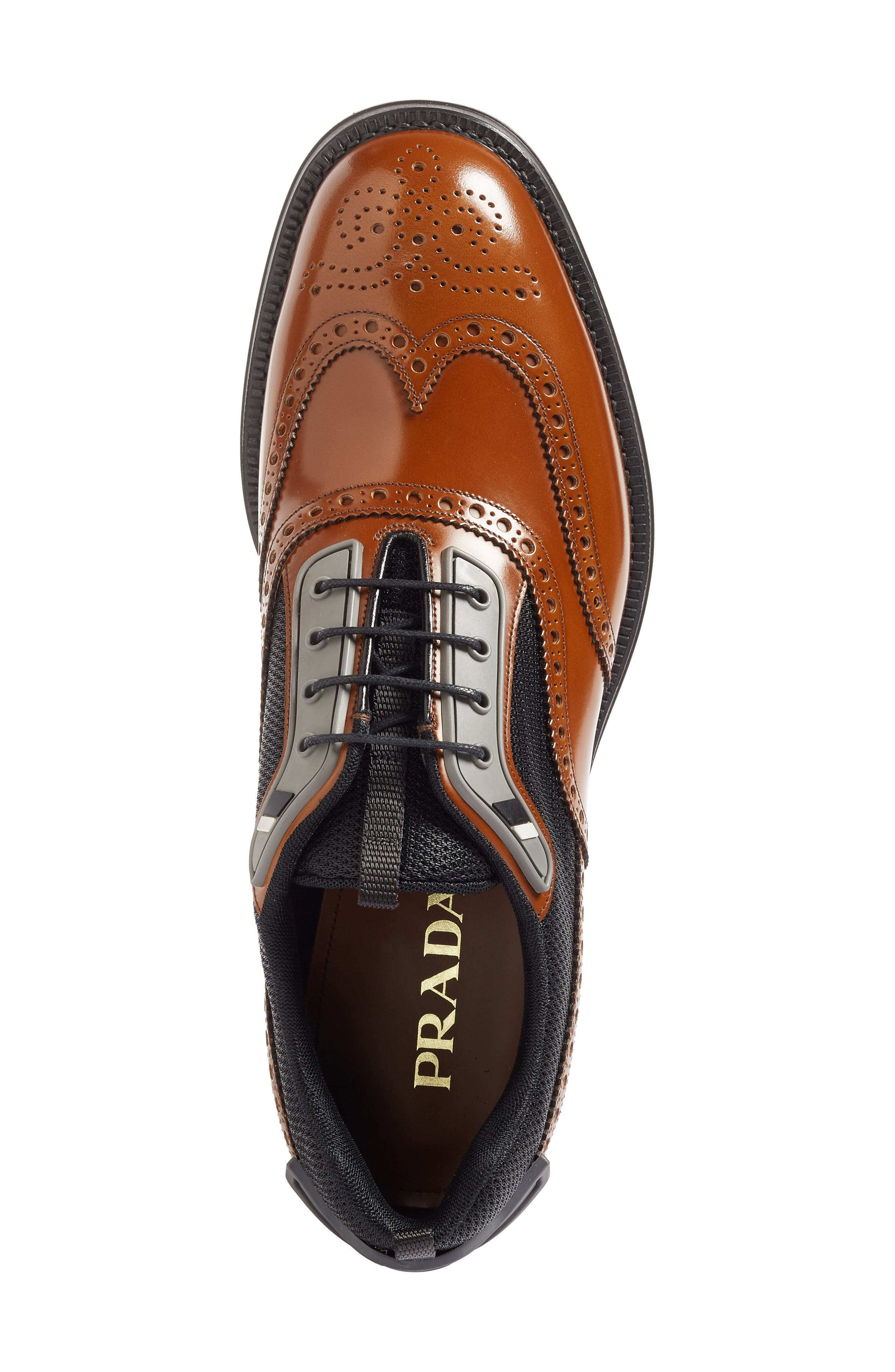 Wingtip,                             Alternate thumbnail 3, color,                             Tobacco/ Nero Leather