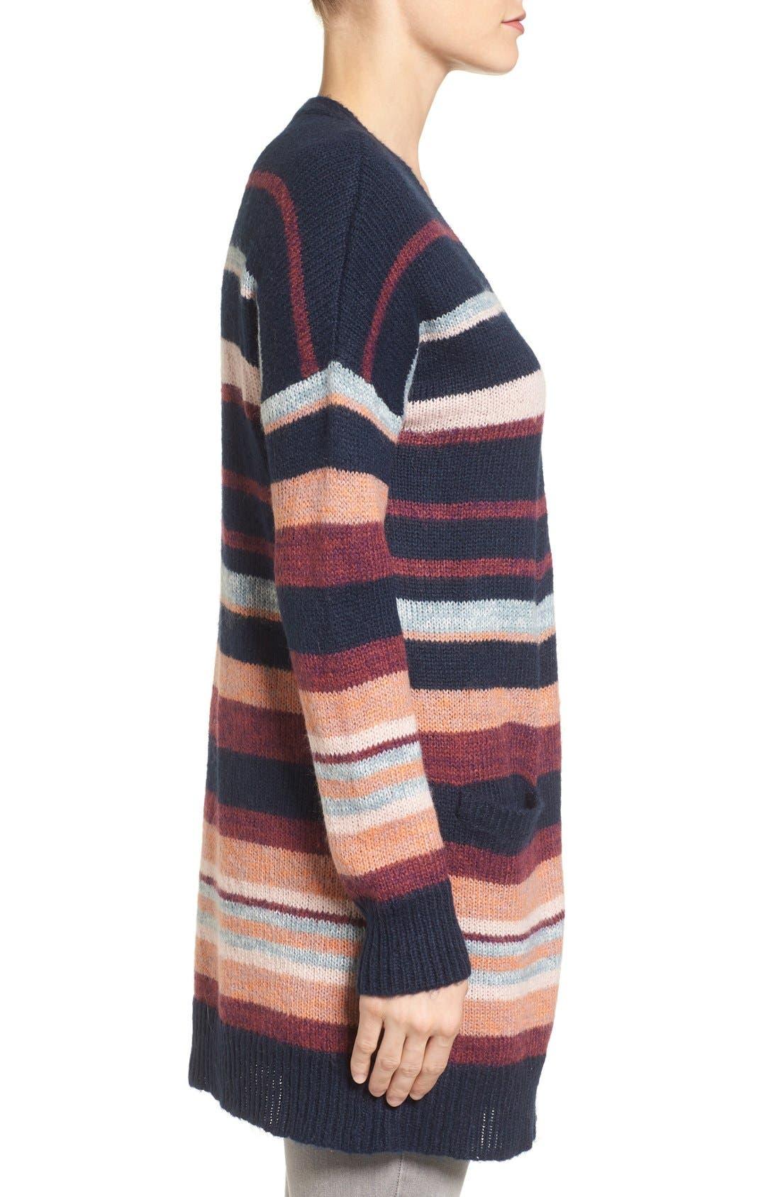 Alternate Image 3  - Caslon® Long Stripe Cardigan