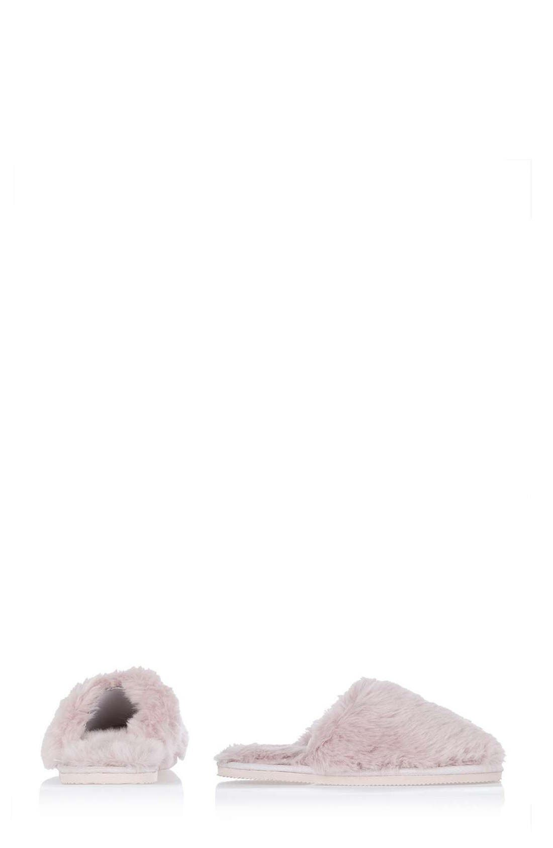 Alternate Image 2  - Topshop Furry Mule Slippers (Women)