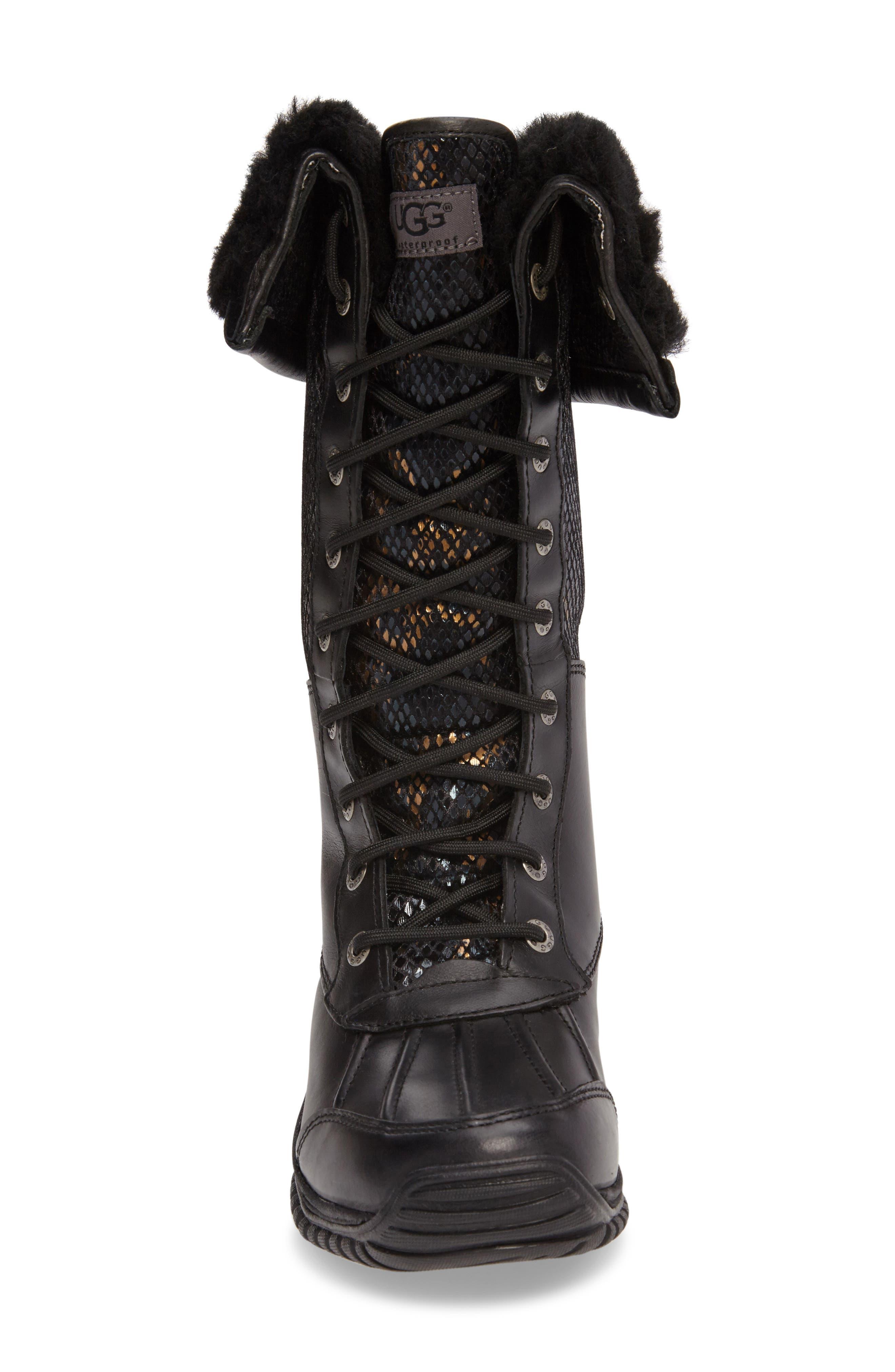 Alternate Image 3  - UGG® Adirondack Tall Exotic Velvet Waterproof Winter Boot (Women)
