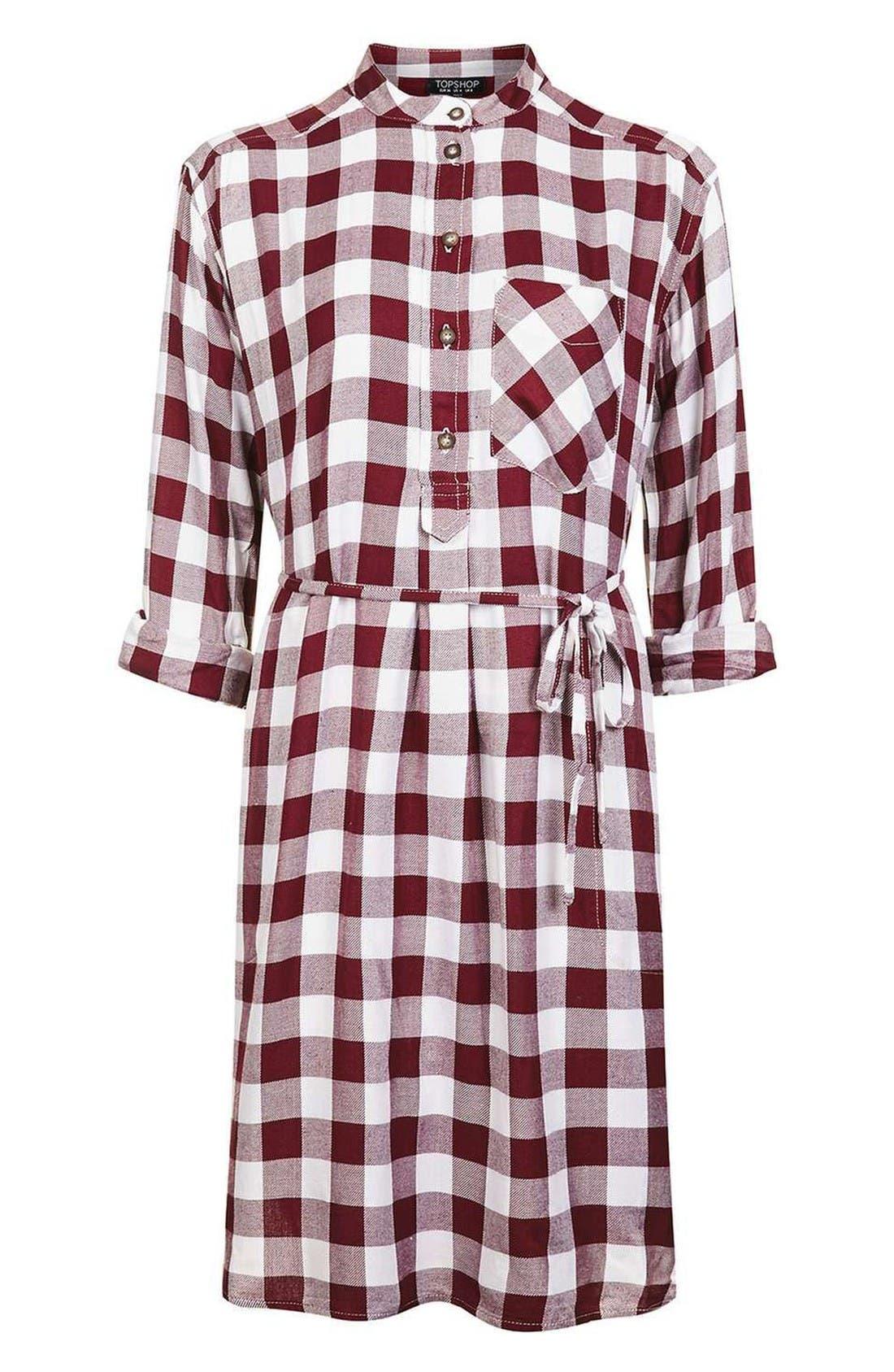 Alternate Image 4  - Topshop Check Shirtdress