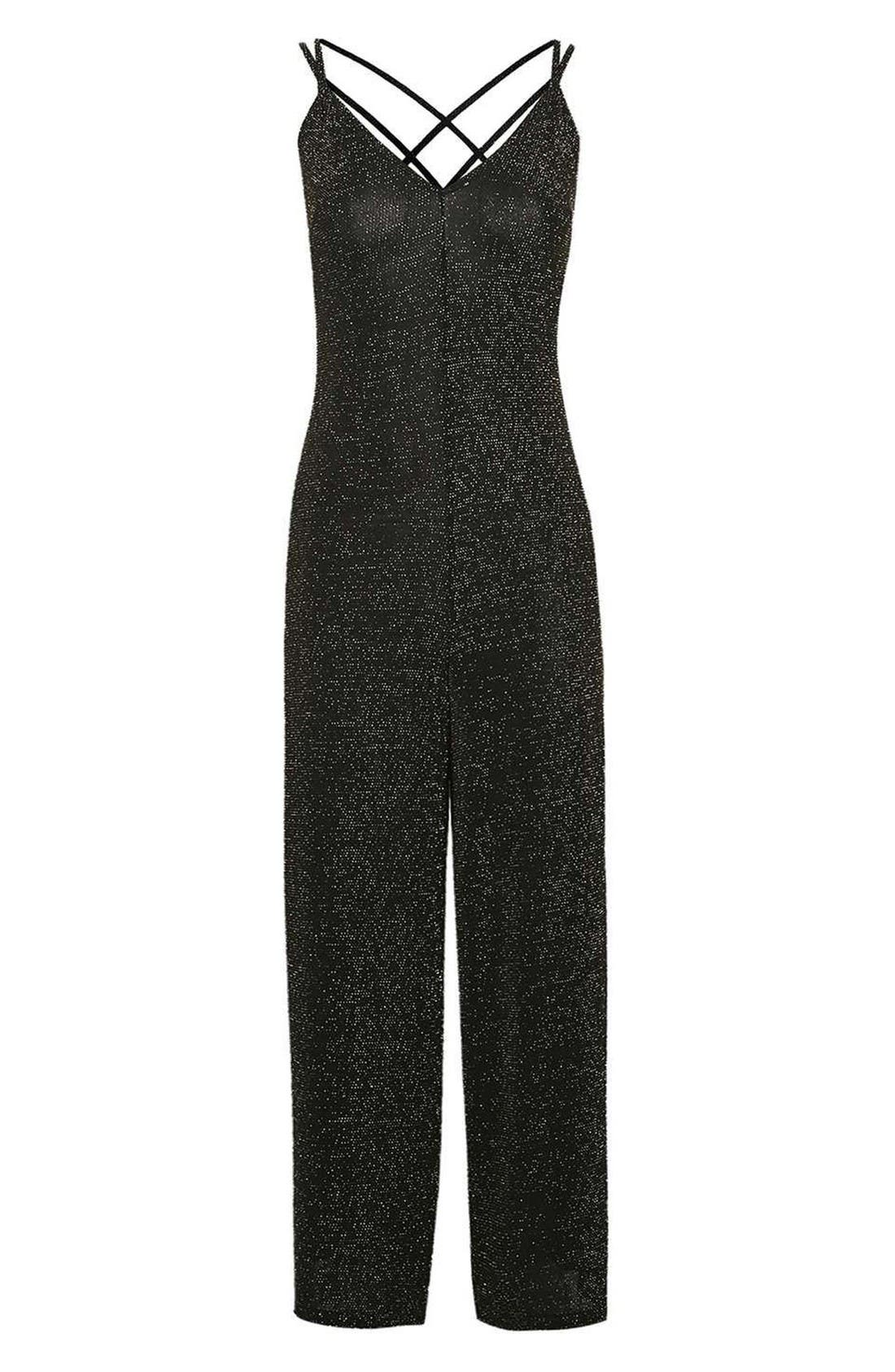 Alternate Image 3  - Topshop Glitter Jumpsuit