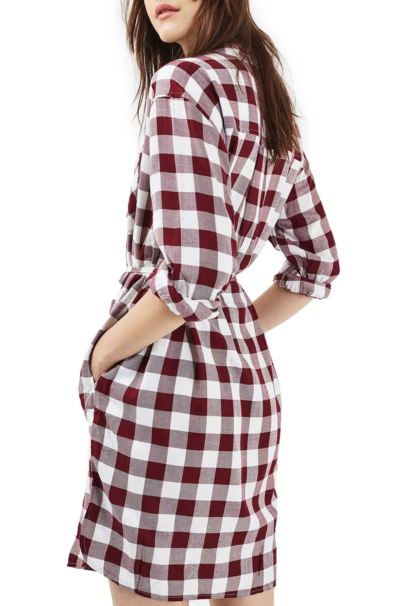 Alternate Image 3  - Topshop Check Shirtdress