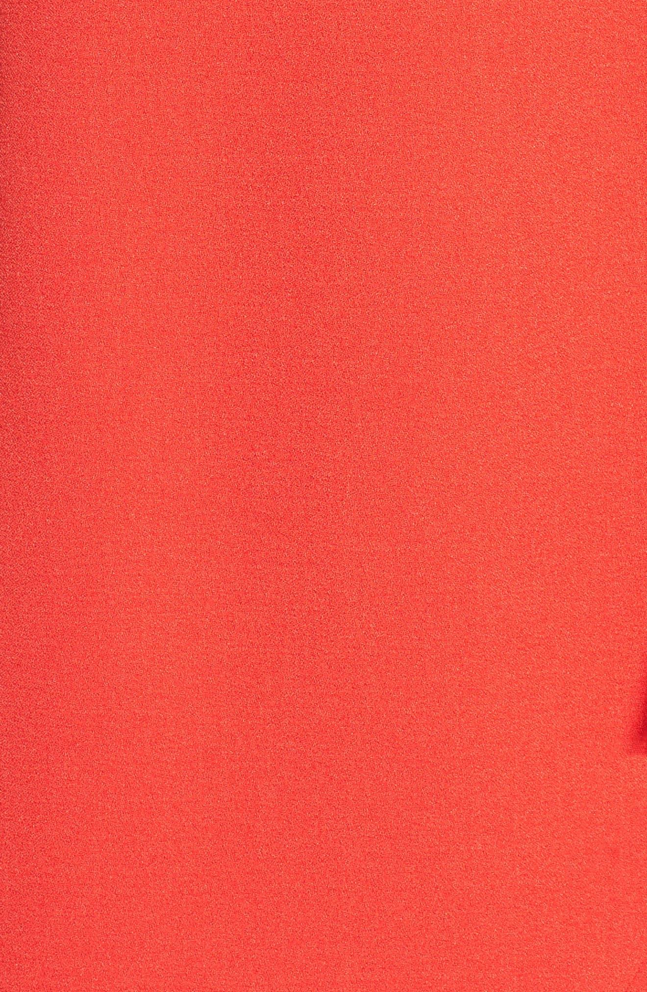 Alternate Image 6  - Vince Camuto Ruffled Crepe Flounce Hem Dress (Regular & Petite)