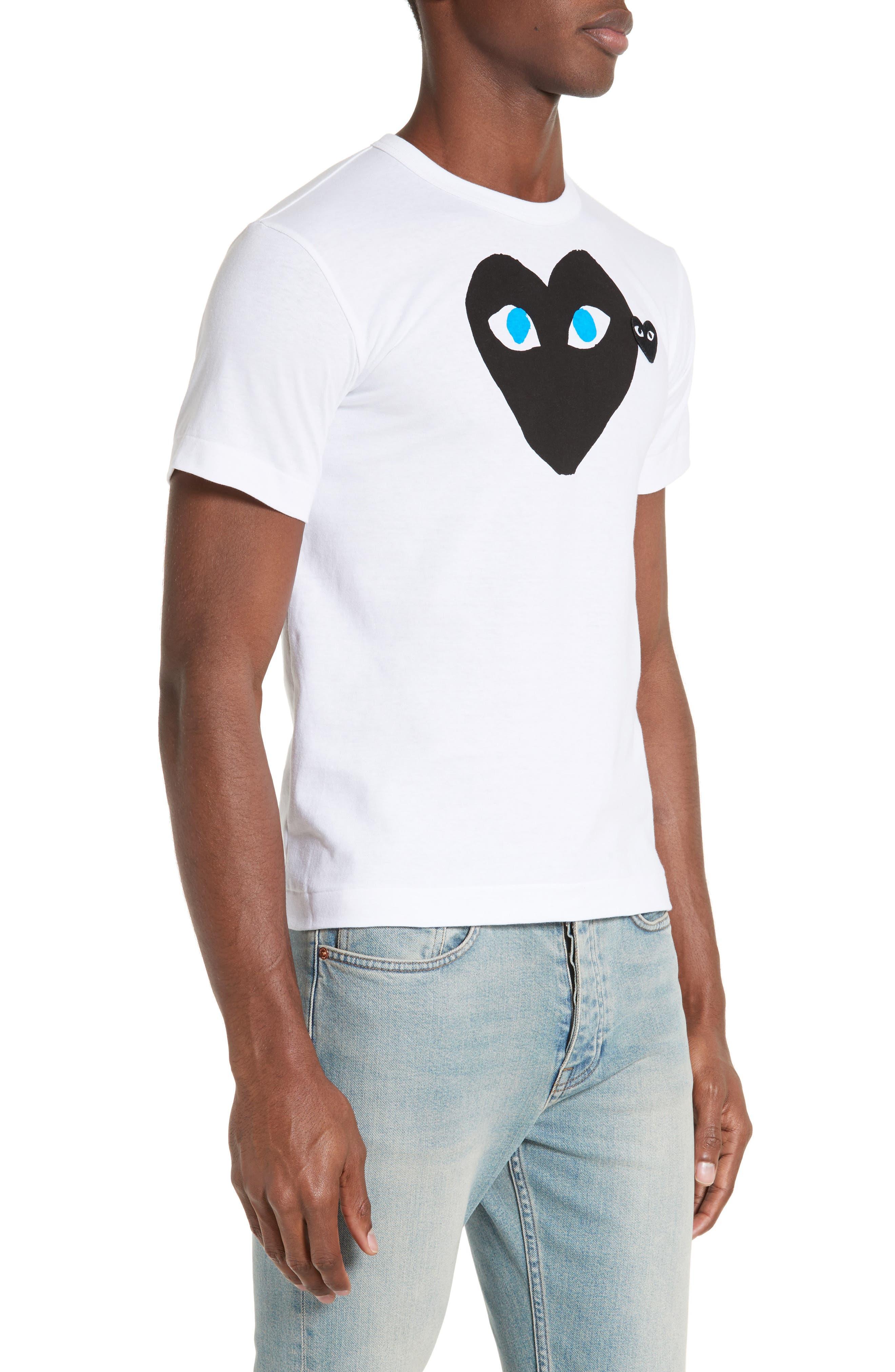 Alternate Image 3  - Comme des Garçons PLAY Graphic T-Shirt with Heart Appliqué