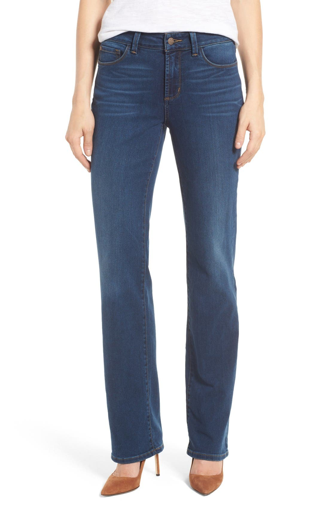Marilyn Stretch Straight Leg Jeans,                             Main thumbnail 1, color,                             Sea Breeze