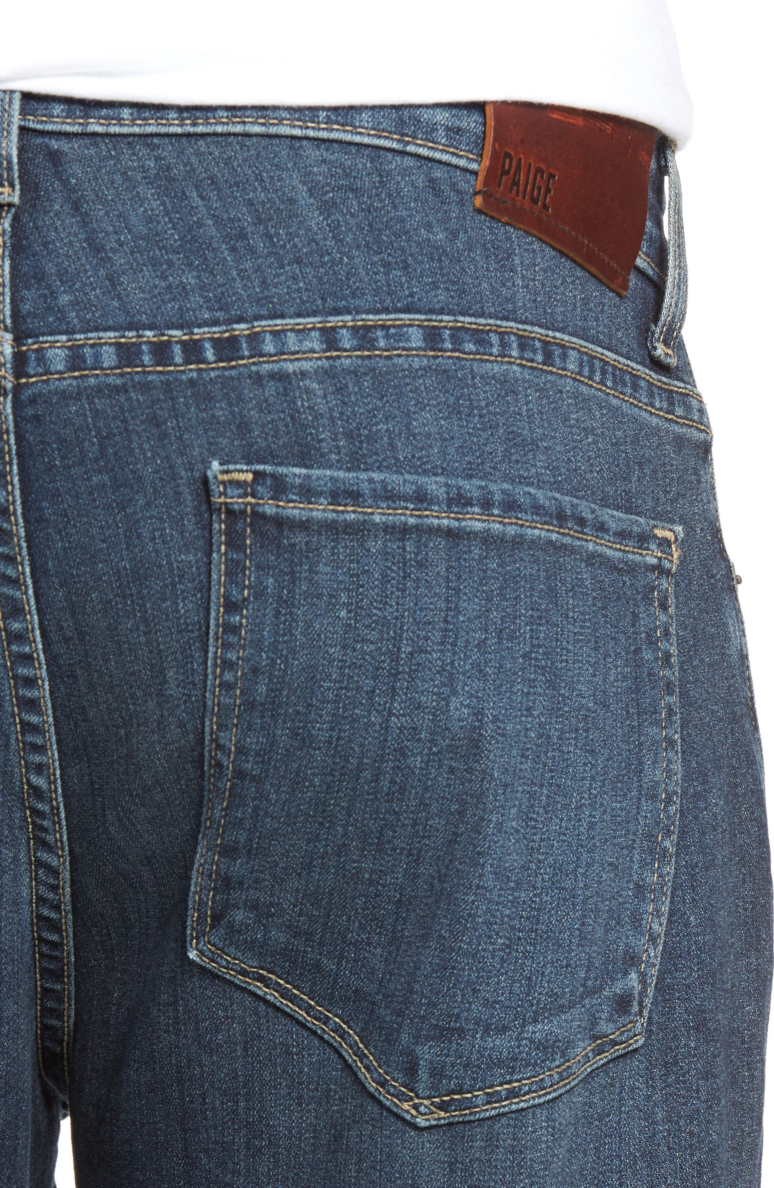 Alternate Image 4  - PAIGE Transcend - Federal Slim Straight Leg Jeans (Wayne)