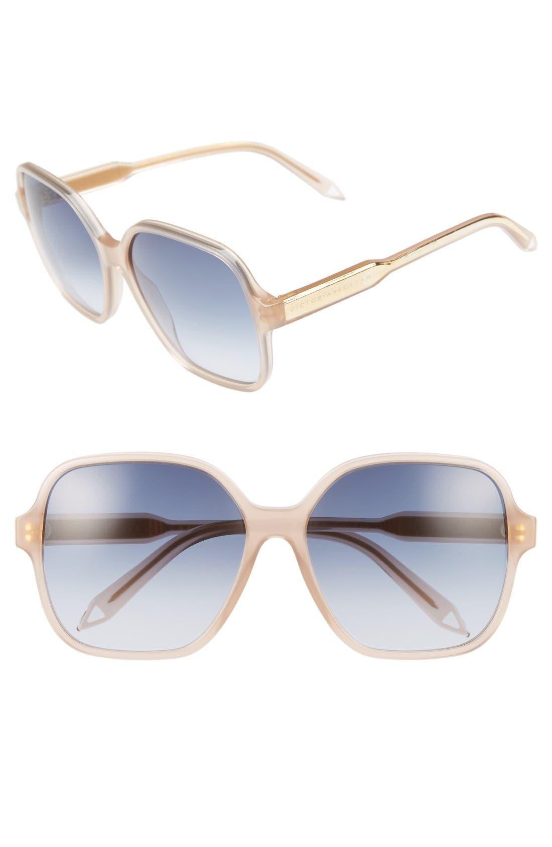 Victoria Beckham Iconic Square 59mm Sunglasses