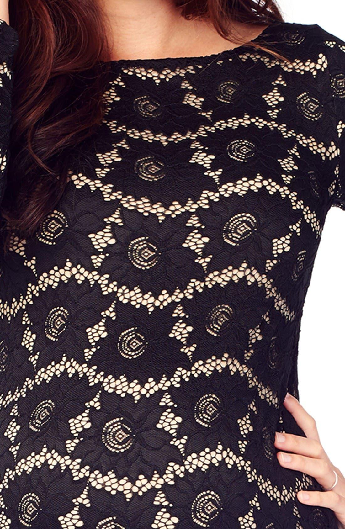 Alternate Image 4  - Ingrid & Isabel Lace Maternity Dress