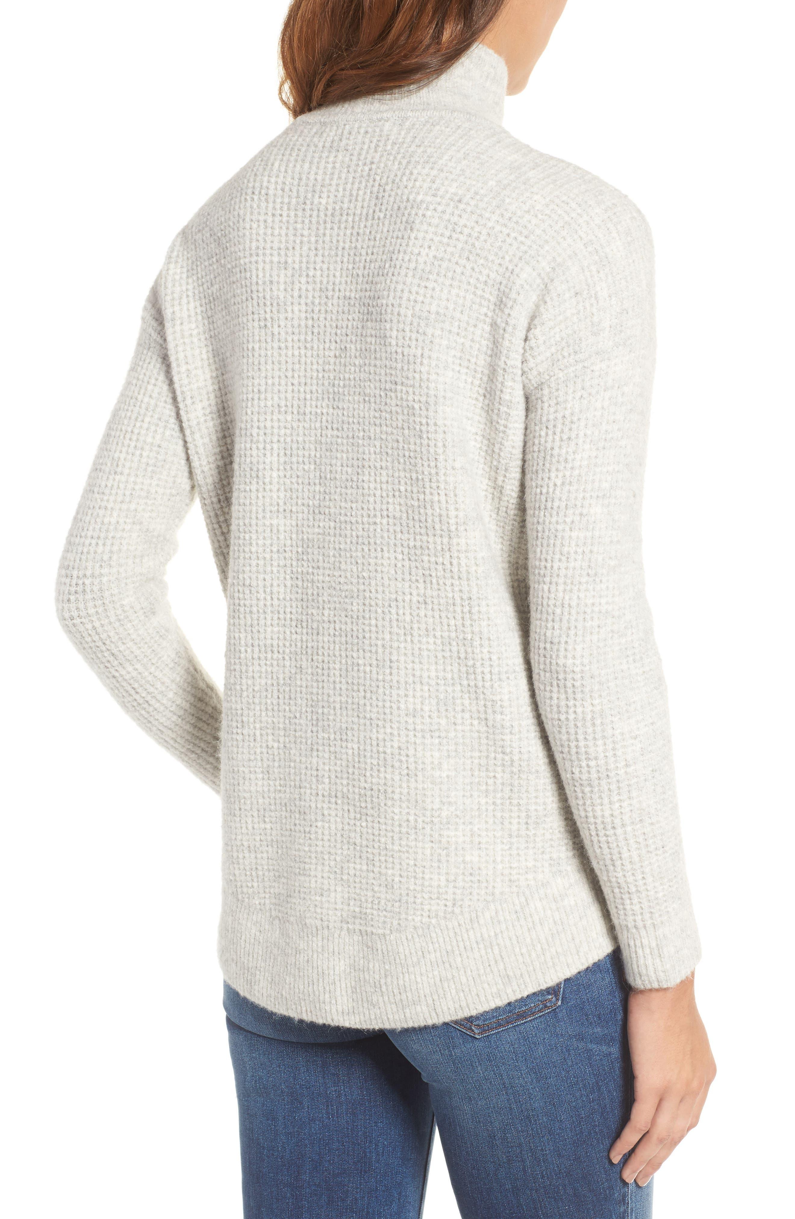 Alternate Image 2  - Madewell Wafflestitch Turtleneck Sweater