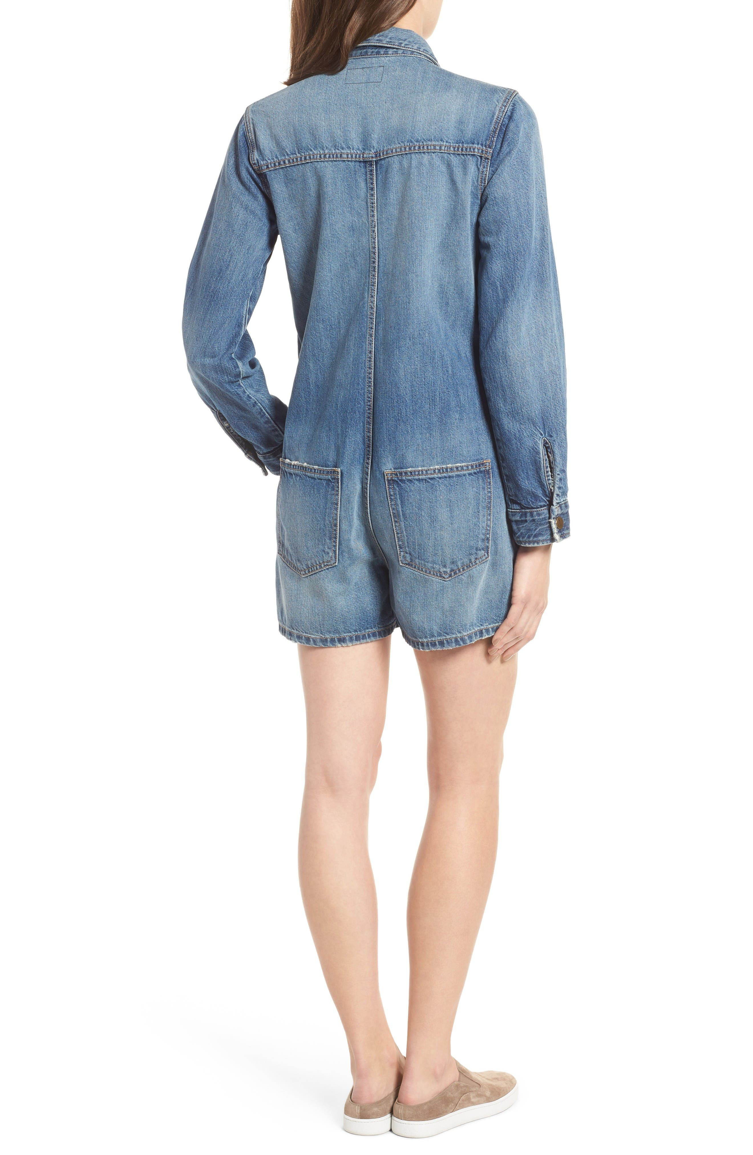 Alternate Image 2  - Current/Elliott The Jamie Denim Romper