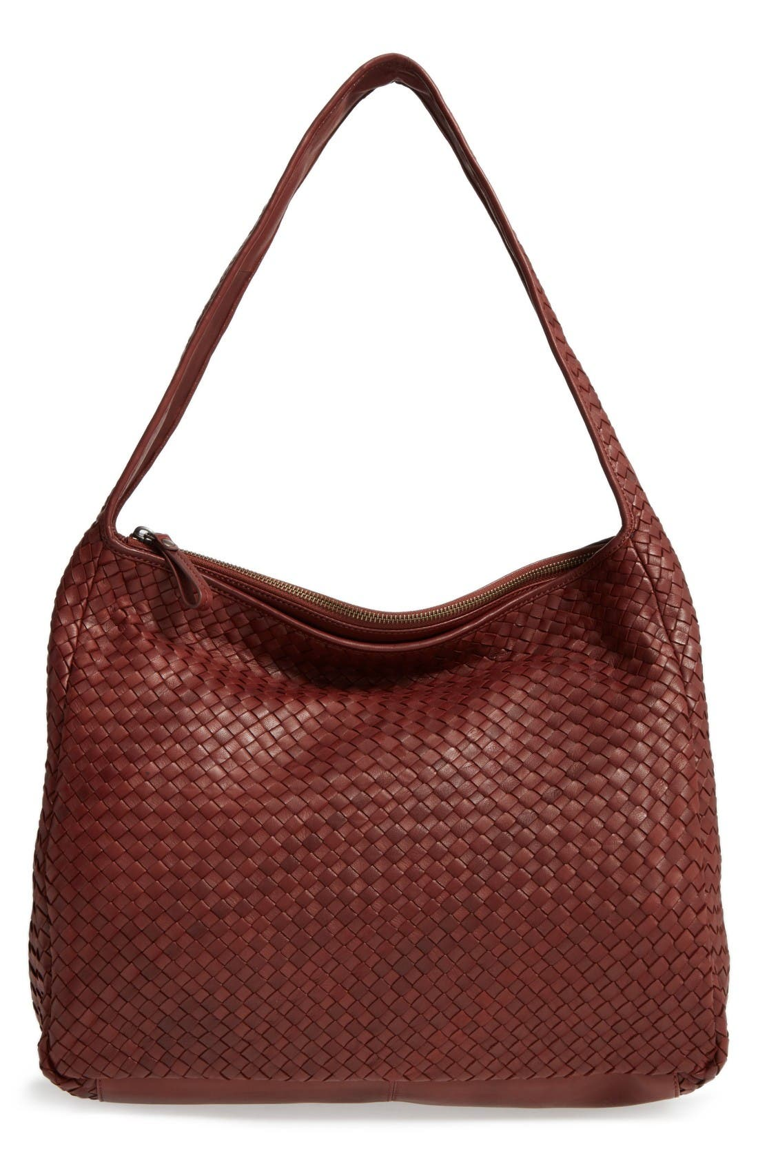 Large Jo Leather Hobo,                         Main,                         color, Luggage