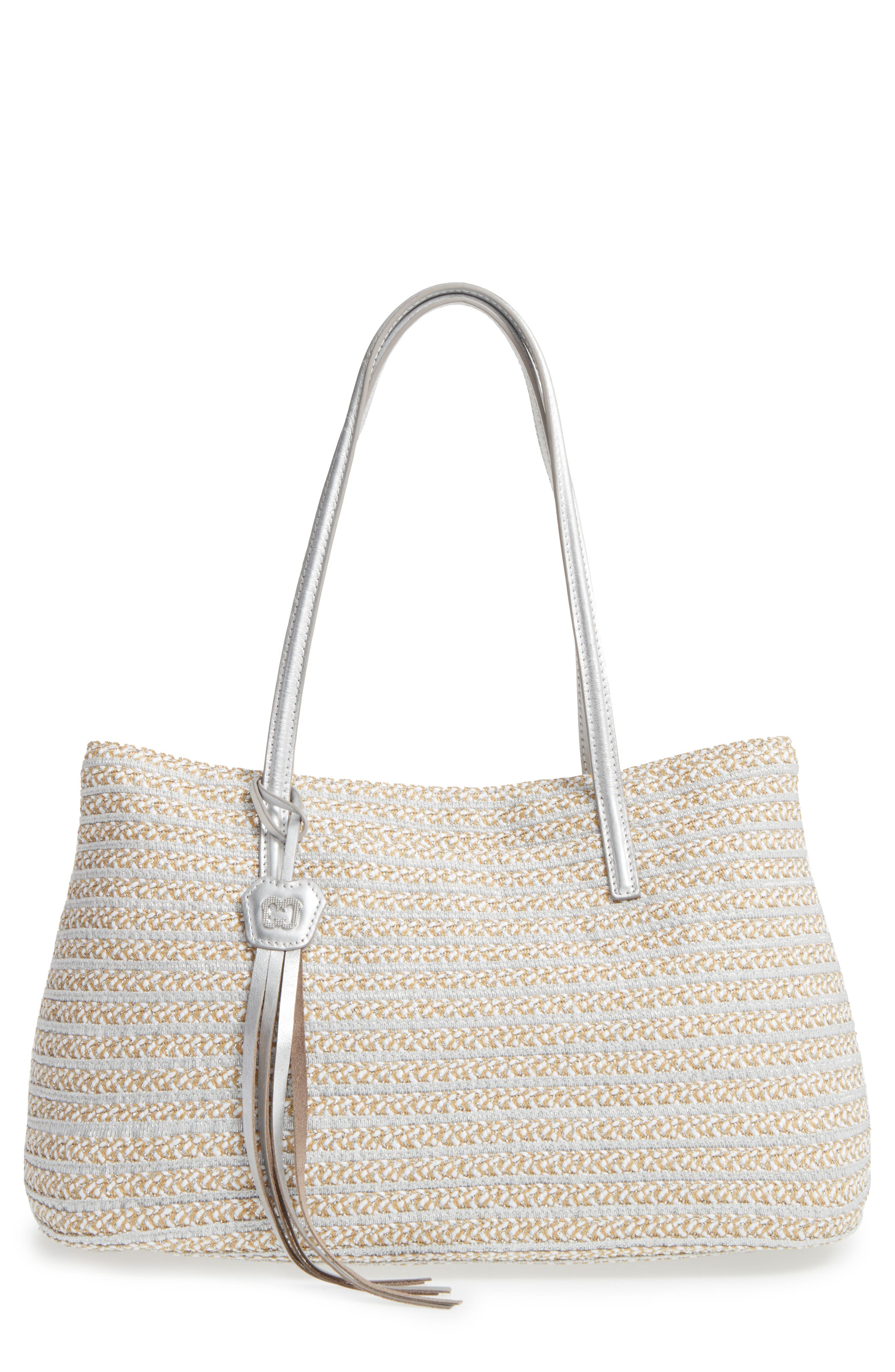 'Dame - Brooke' Tote,                         Main,                         color, Frost White