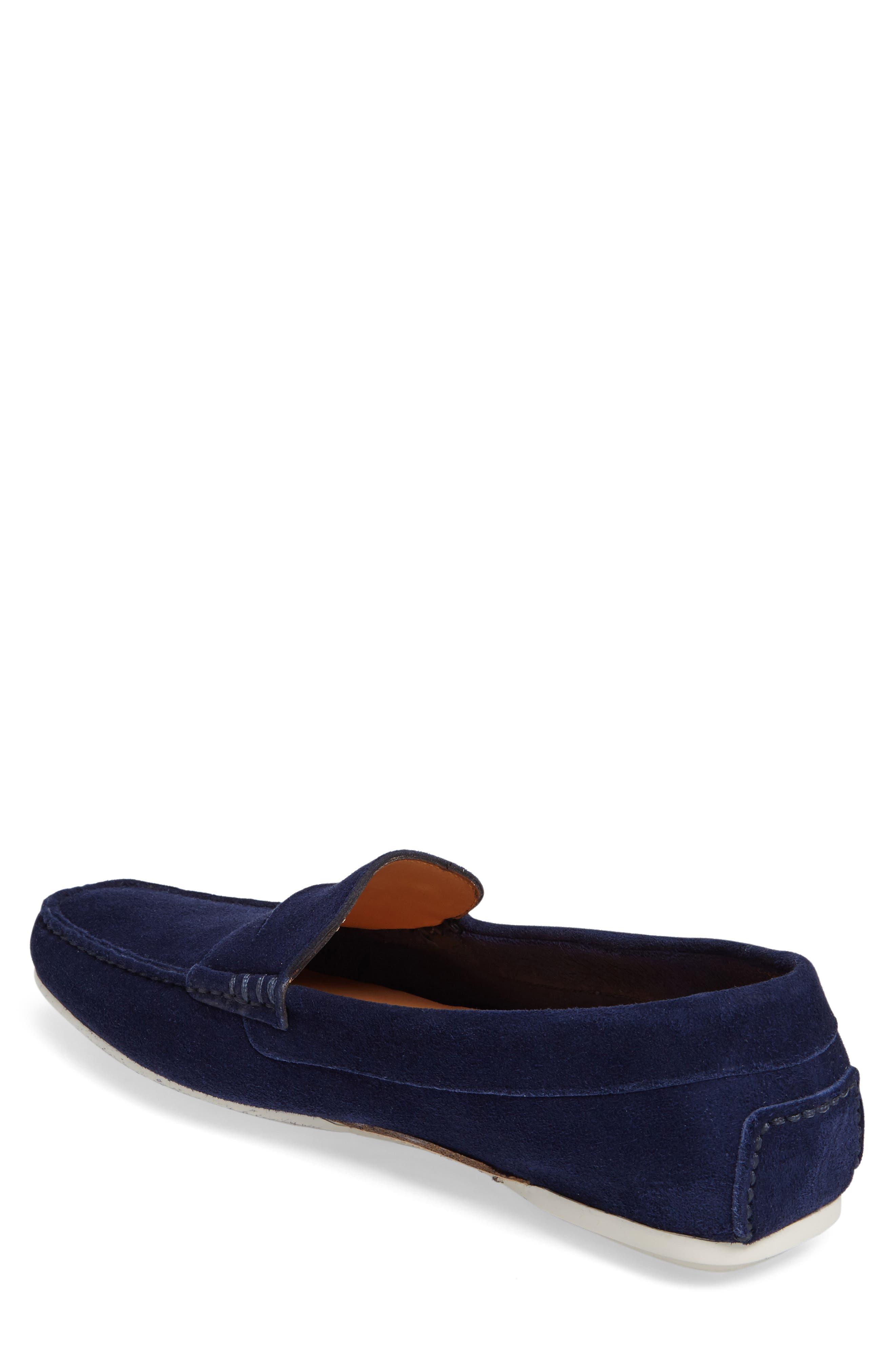 'Tanton' Driving Shoe,                             Alternate thumbnail 2, color,                             Blue Suede
