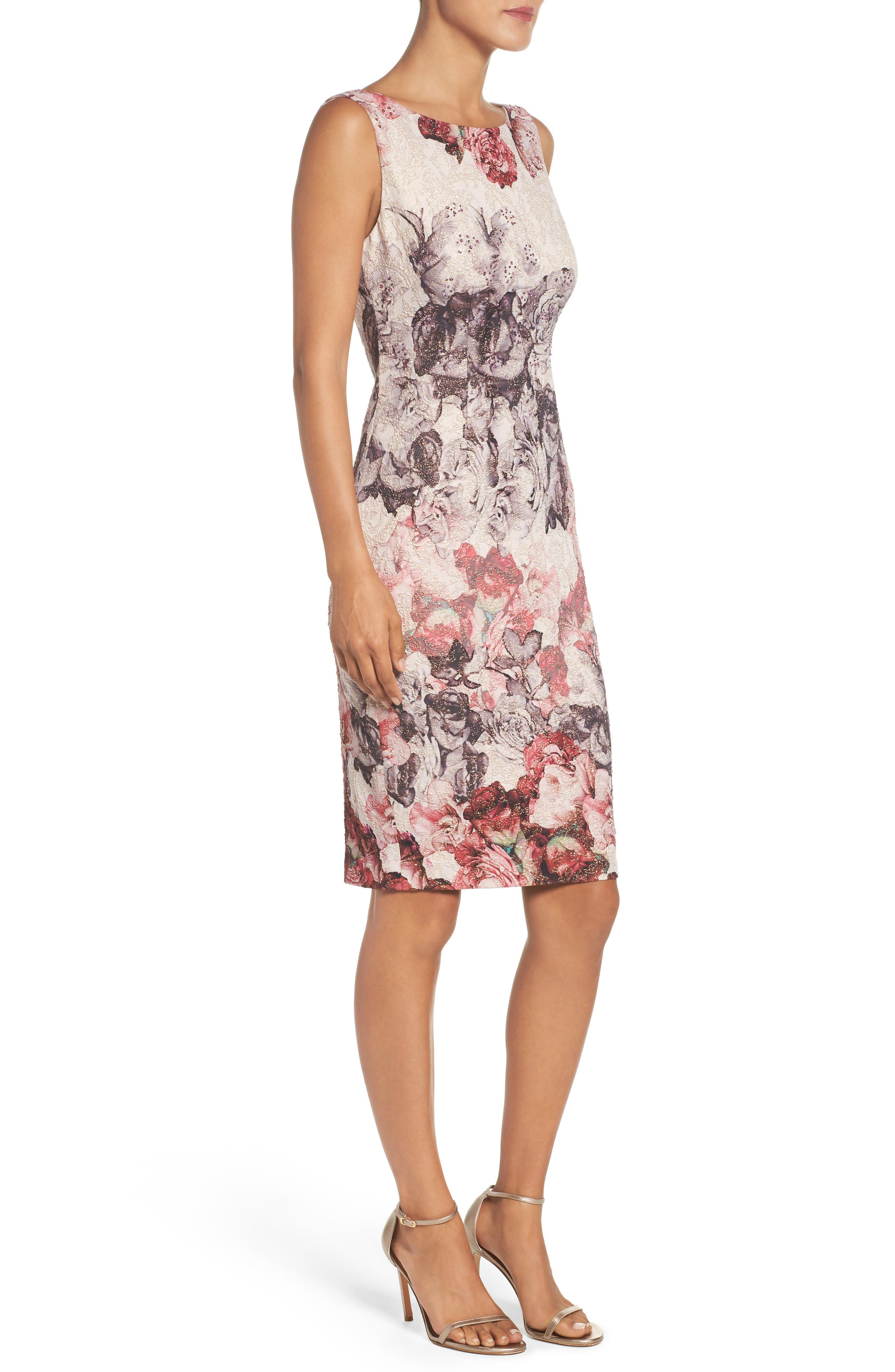 Alternate Image 3  - Adrianna Papell Embellished Sheath Dress (Regular & Petite)