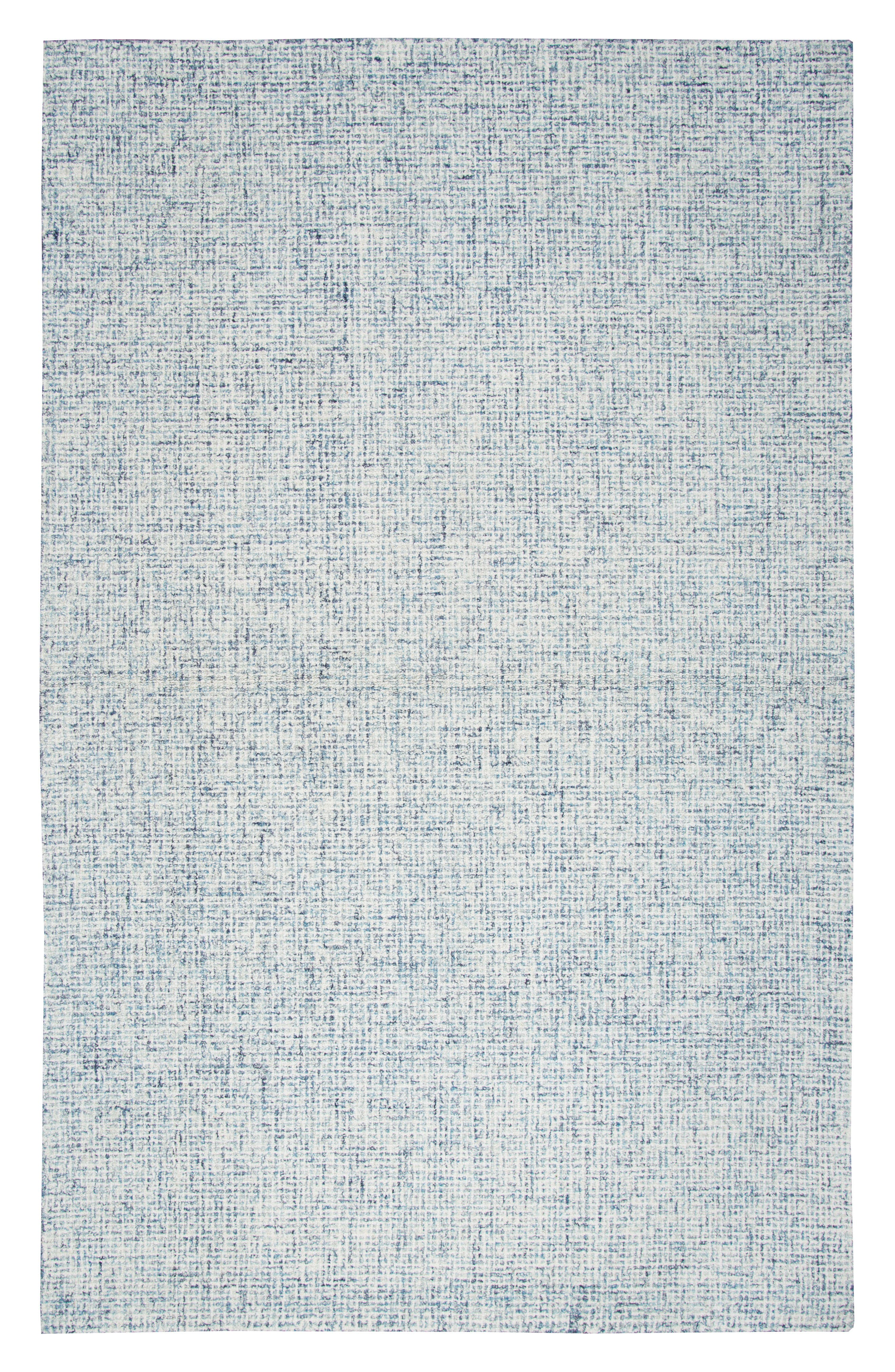 Bramble Hand Tufted Wool Area Rug,                         Main,                         color, Blue