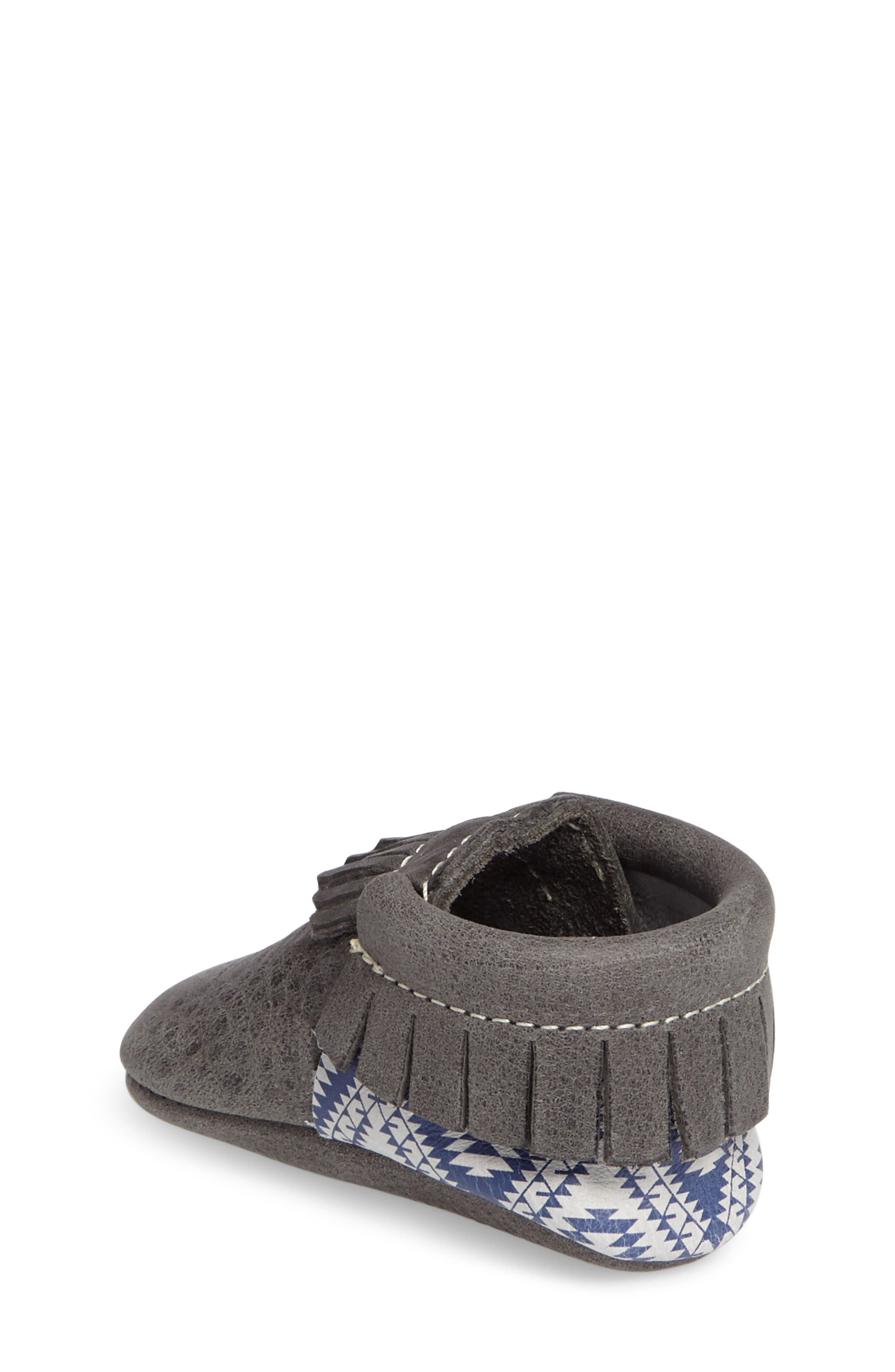 Leather Moccasin,                             Alternate thumbnail 2, color,                             Dark Grey Leather