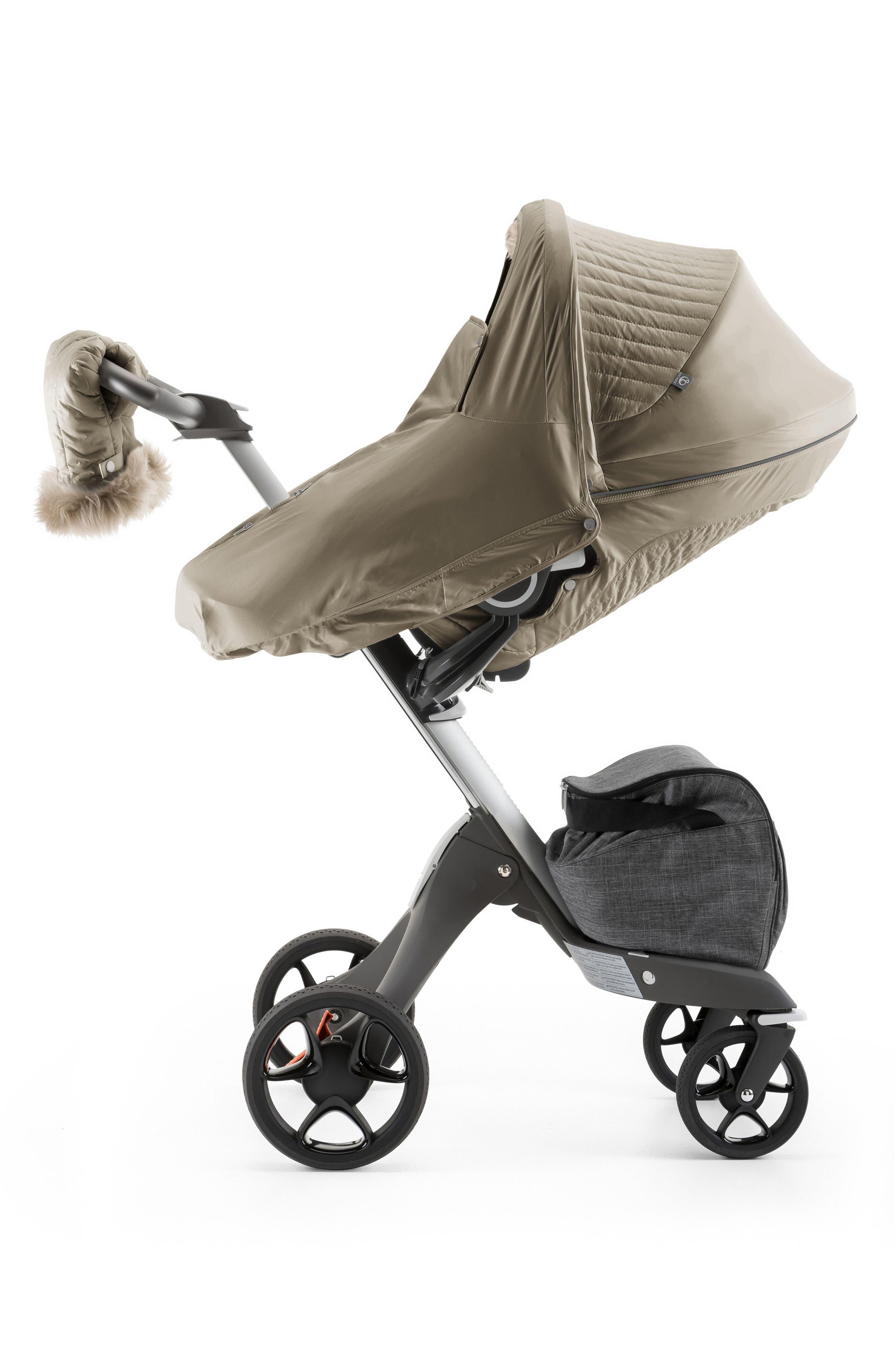 Stroller Winter Kit,                             Alternate thumbnail 4, color,                             Bronze Brown