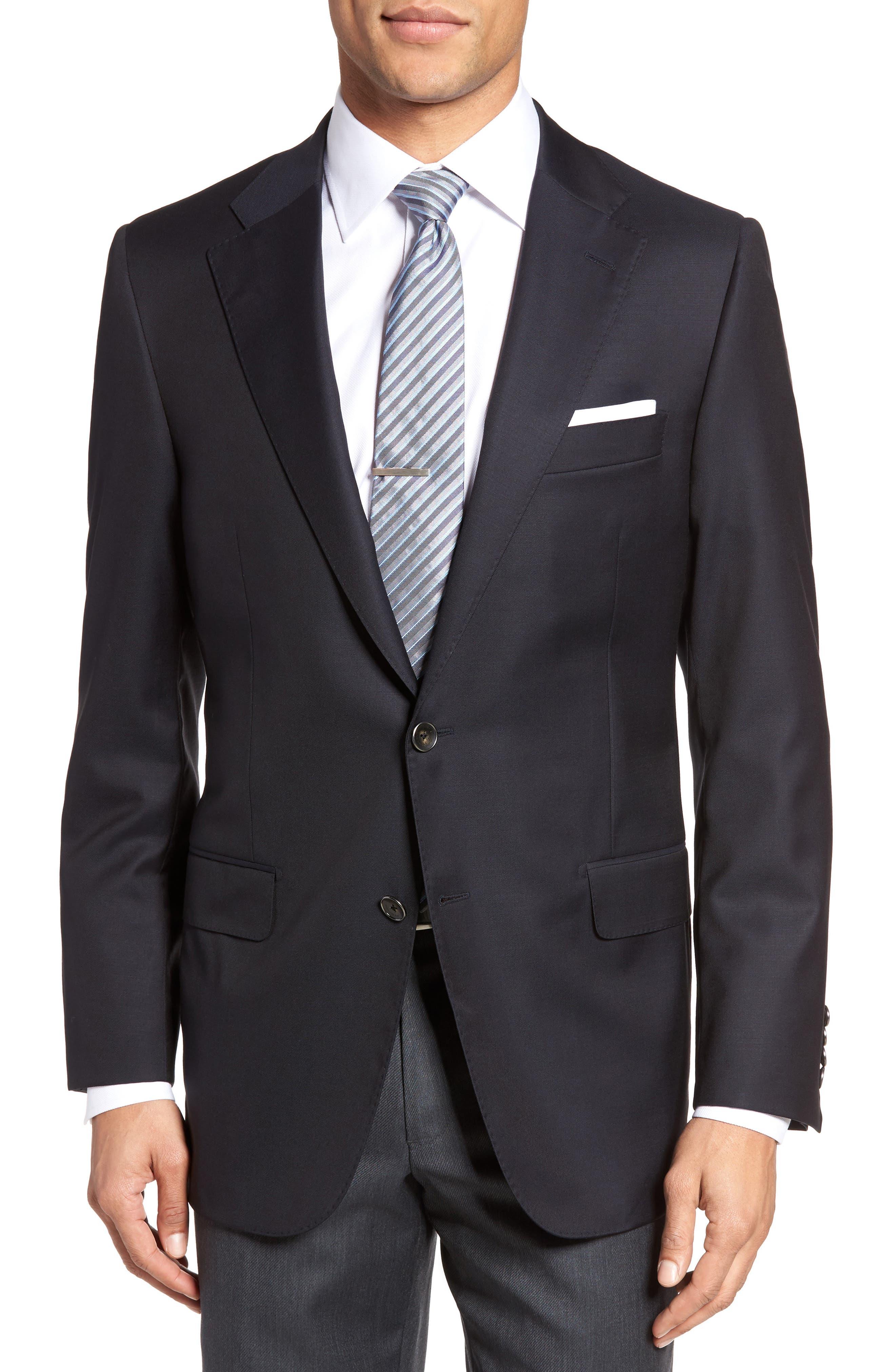 Hickey Freeman Beacon Classic Fit Wool Blazer
