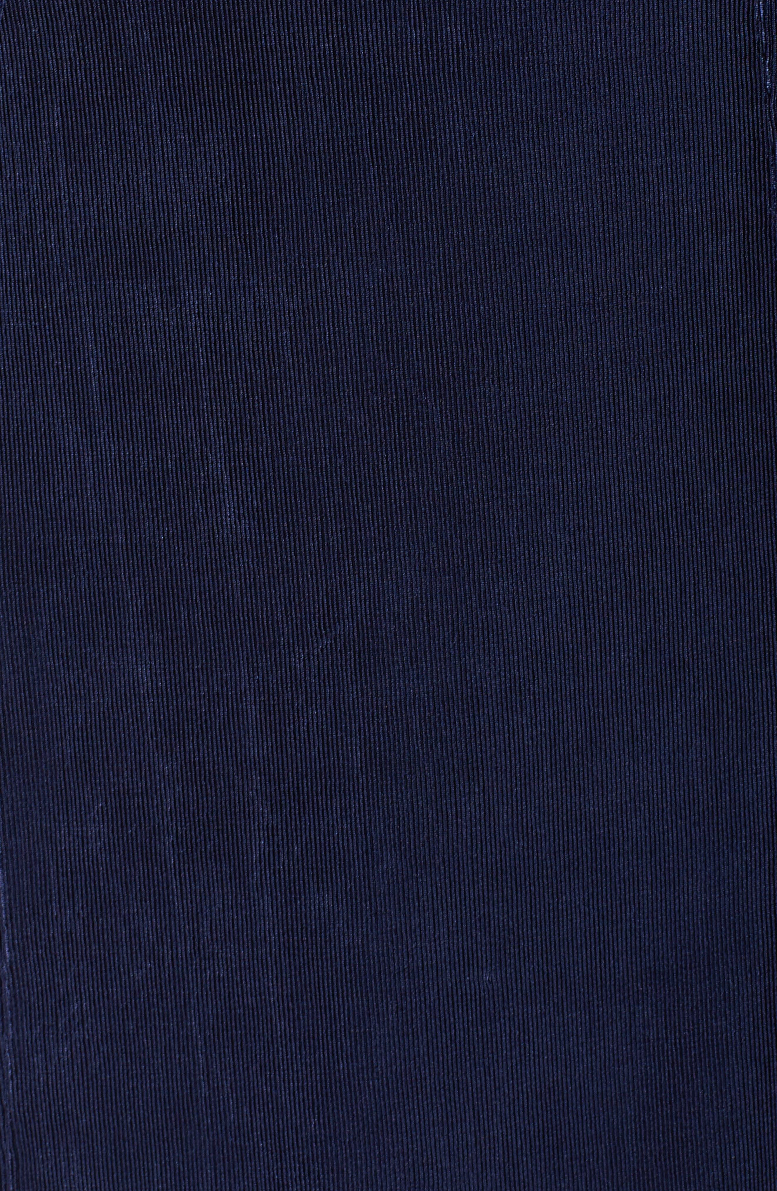 One-Button Stretch Knit Blazer,                             Alternate thumbnail 5, color,                             Navy