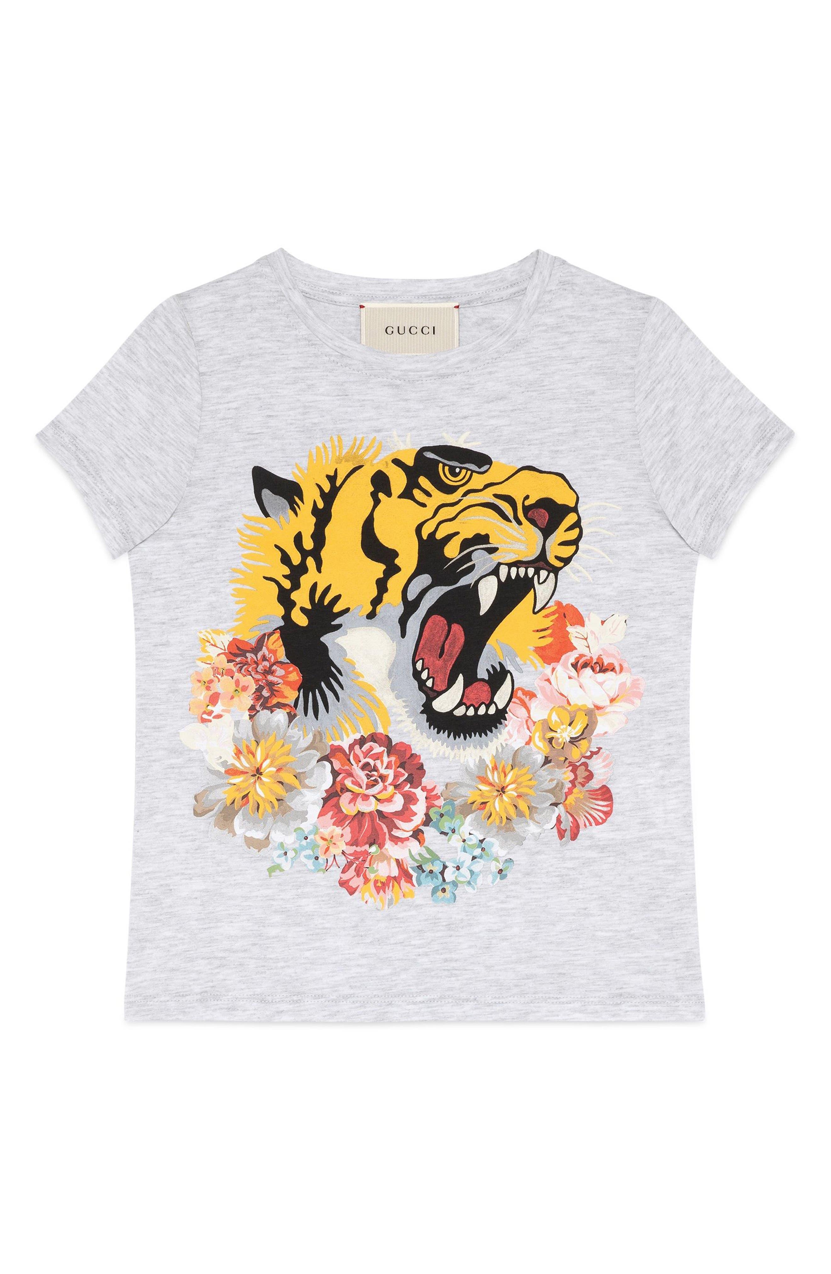 Gucci Tiger Graphic Tee (Little Girls & Big Girls)