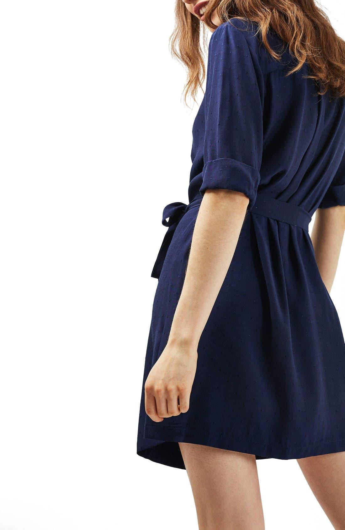 Alternate Image 3  - Topshop Dot Jacquard Wrap Dress