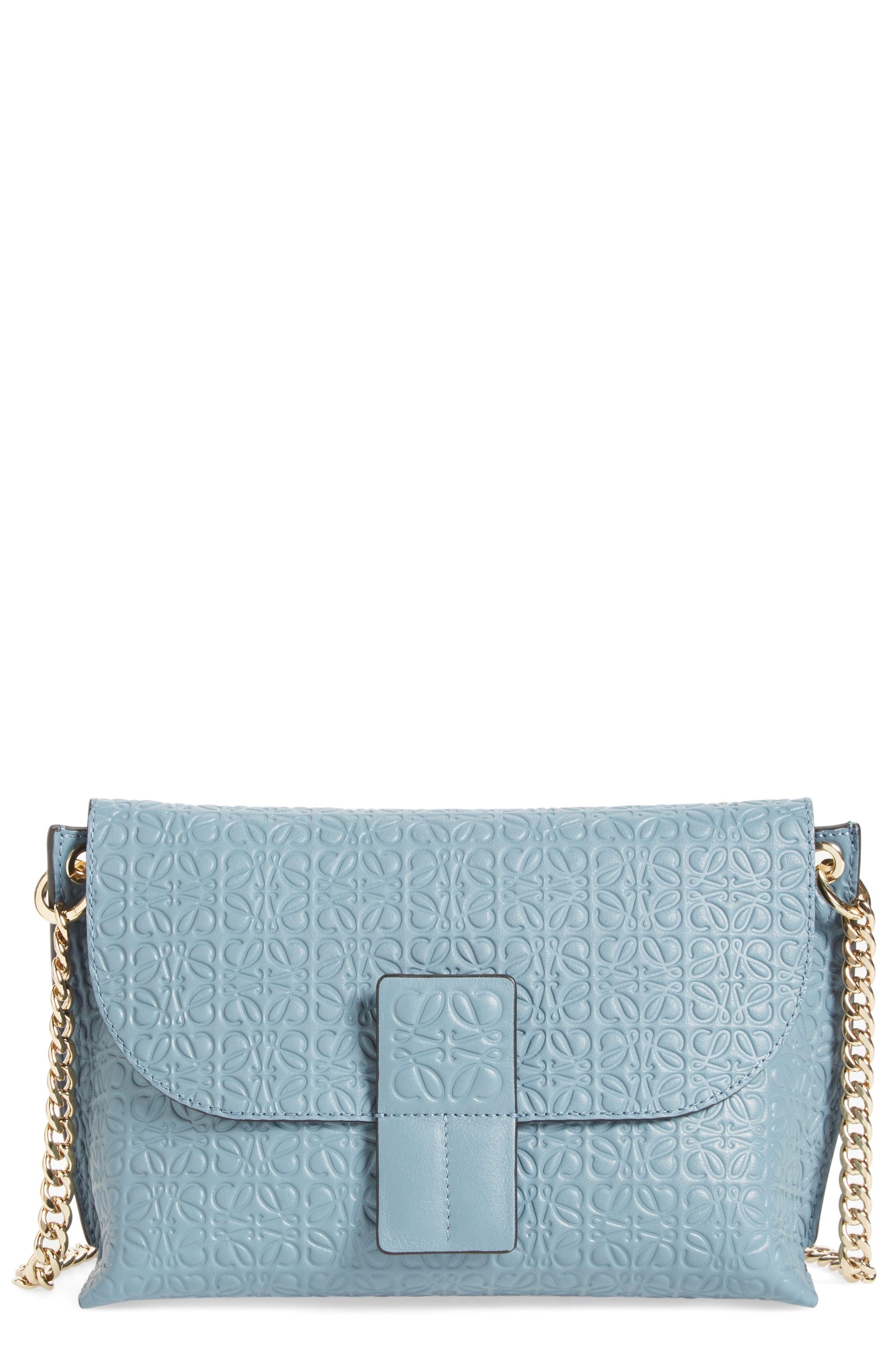 Loewe 'Avenue' Embossed Calfskin Leather Crossbody Bag