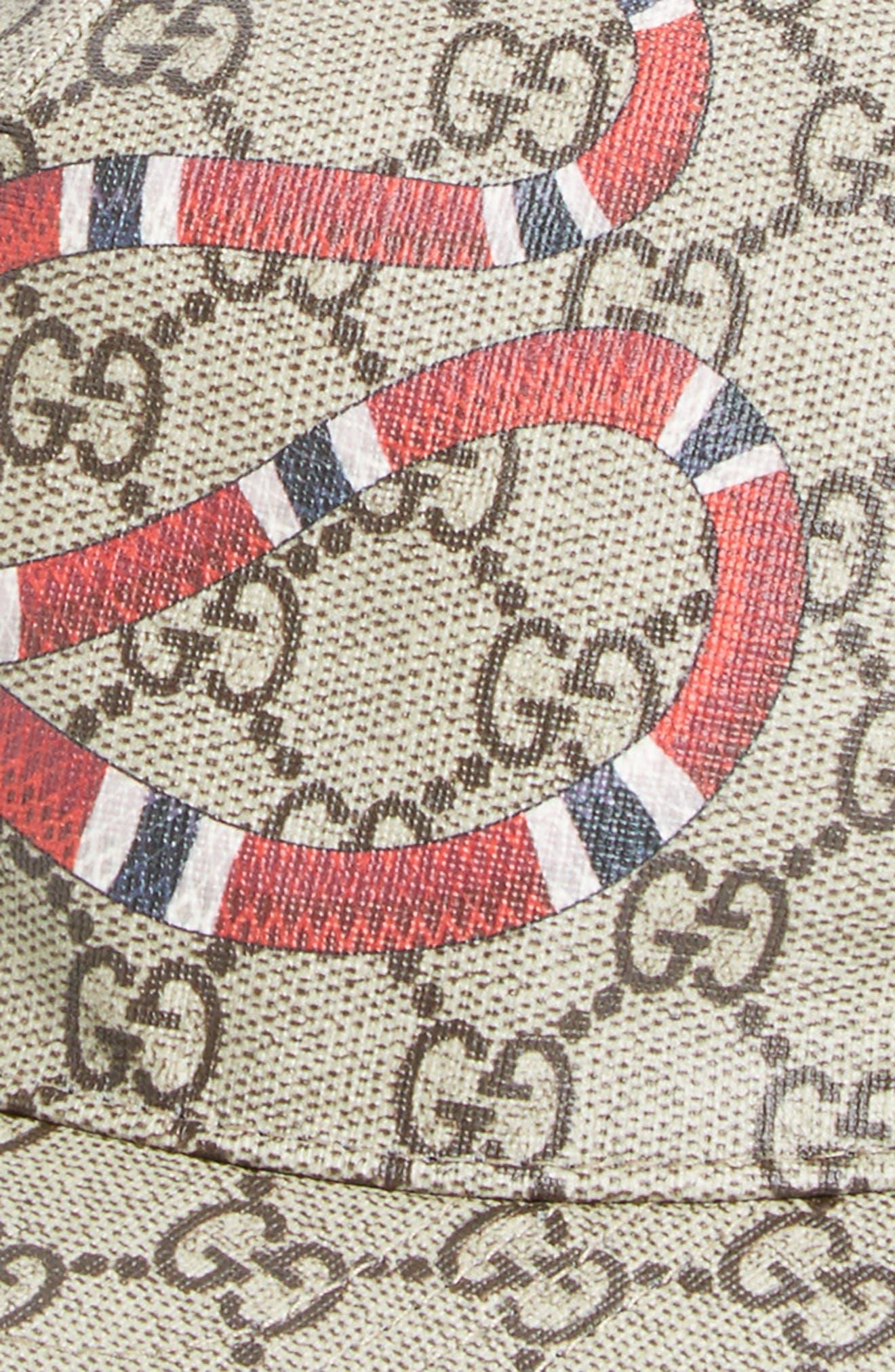 Alternate Image 2  - Gucci Snake Print Baseball Cap