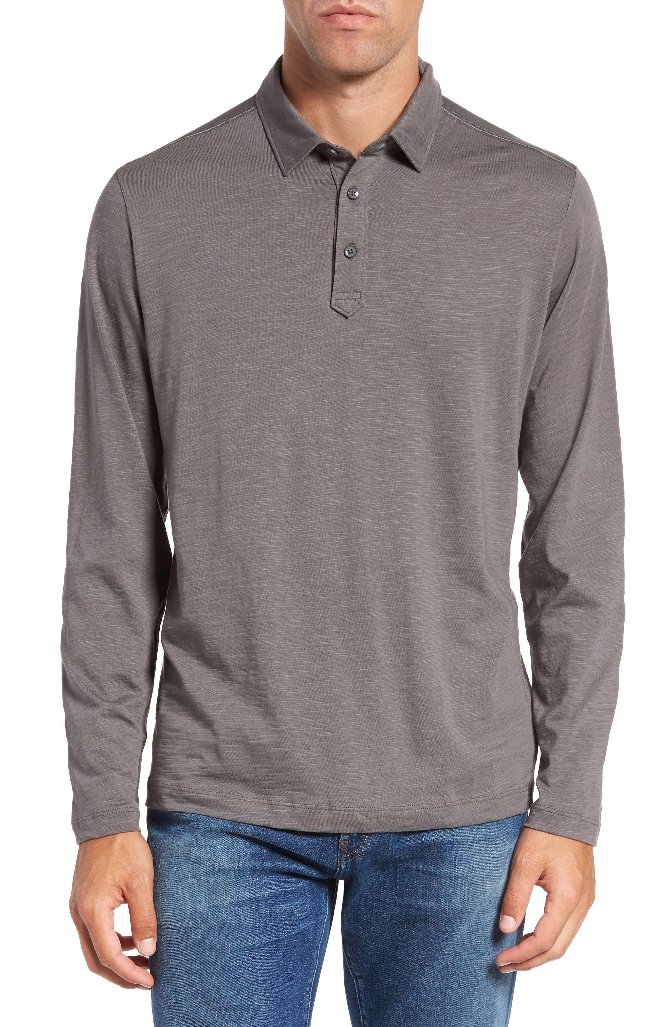 Tommy Bahama 'Portside Player Spectator' Long Sleeve Jersey Polo