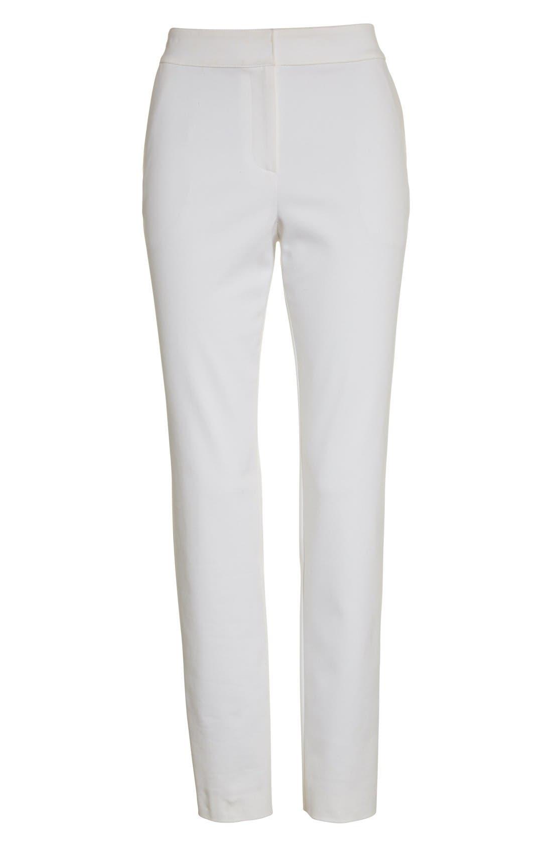 Alternate Image 4  - St. John Collection Emma Stretch Micro Ottoman Crop Pants