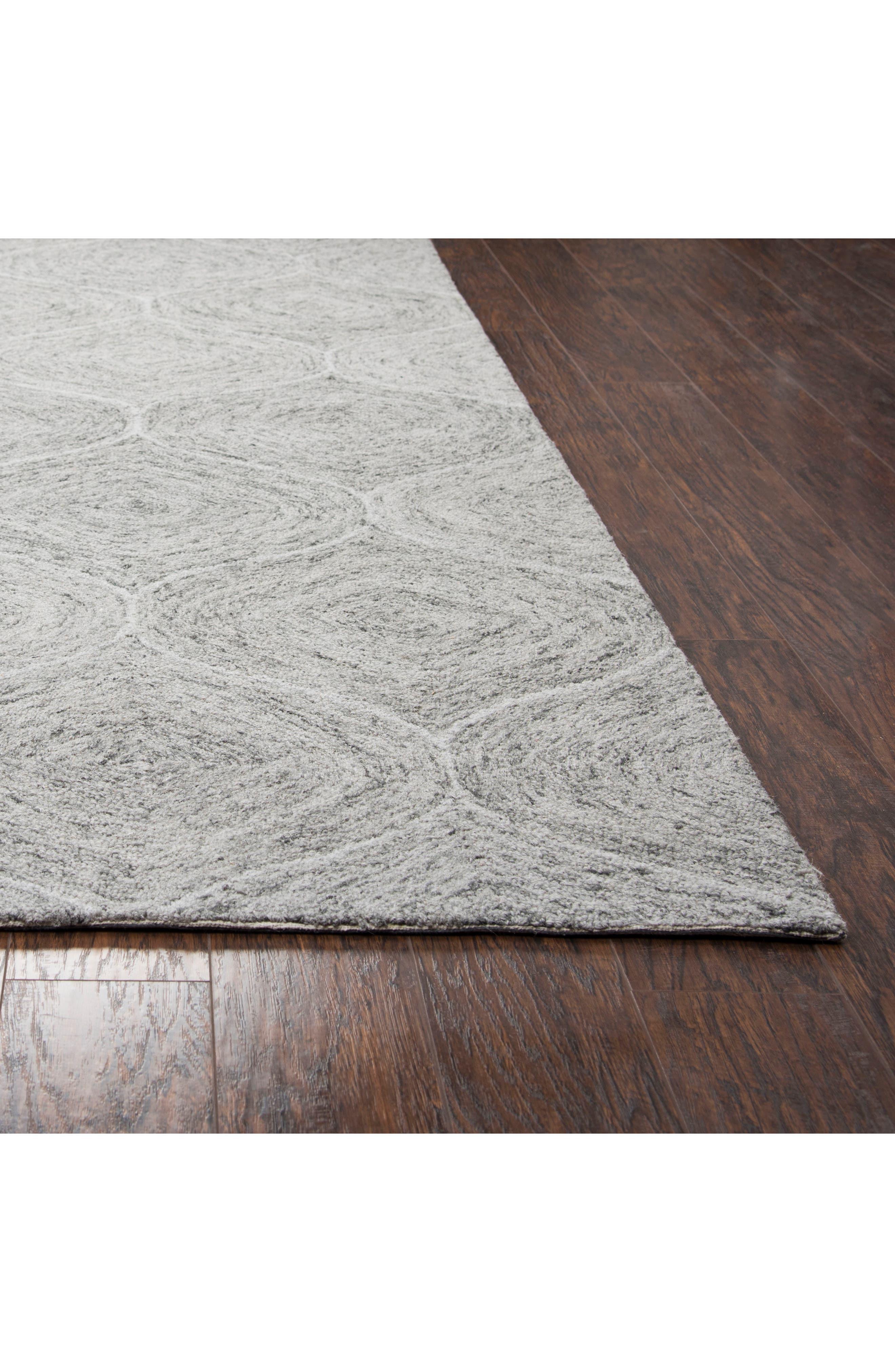 Irregular Diamond Hand Tufted Wool Area Rug,                             Alternate thumbnail 2, color,                             Grey