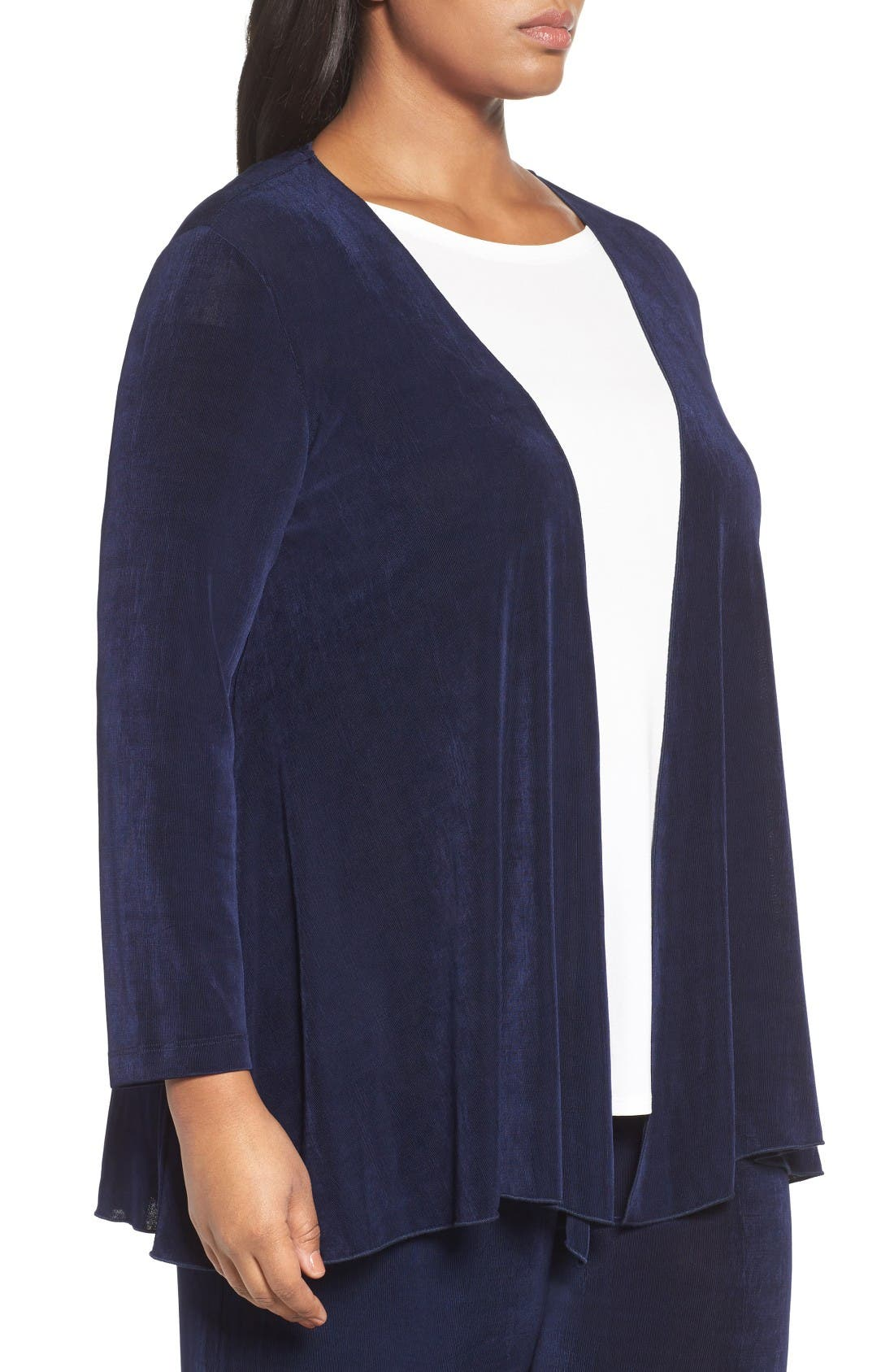 Open Front Swing Cardigan,                             Alternate thumbnail 3, color,                             Navy