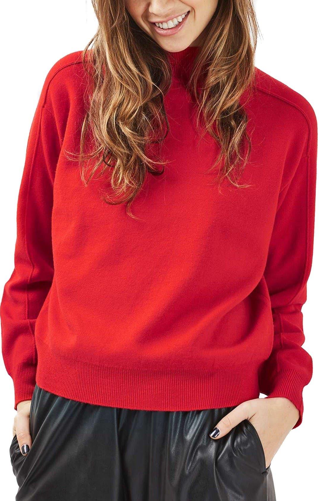 Main Image - Topshop Mock Neck Sweater