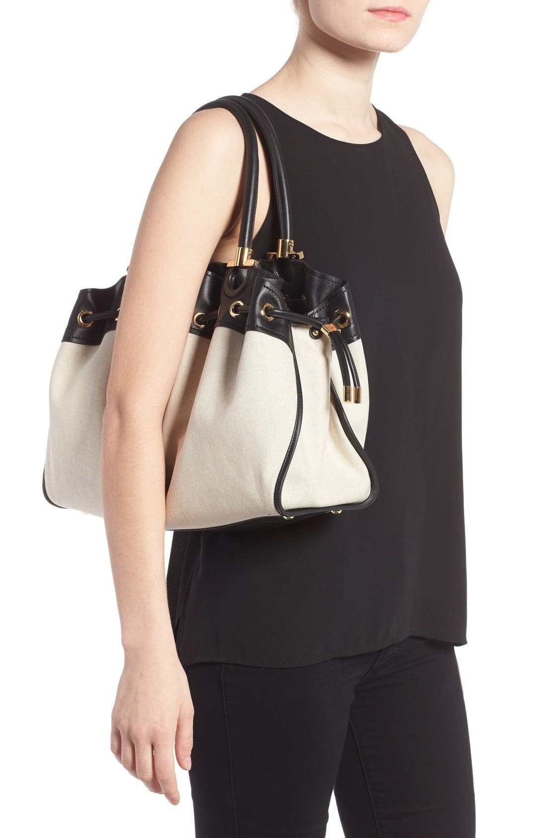 Alternate Image 2  - Salvatore Ferragamo Sonia - Large Canvas Tote