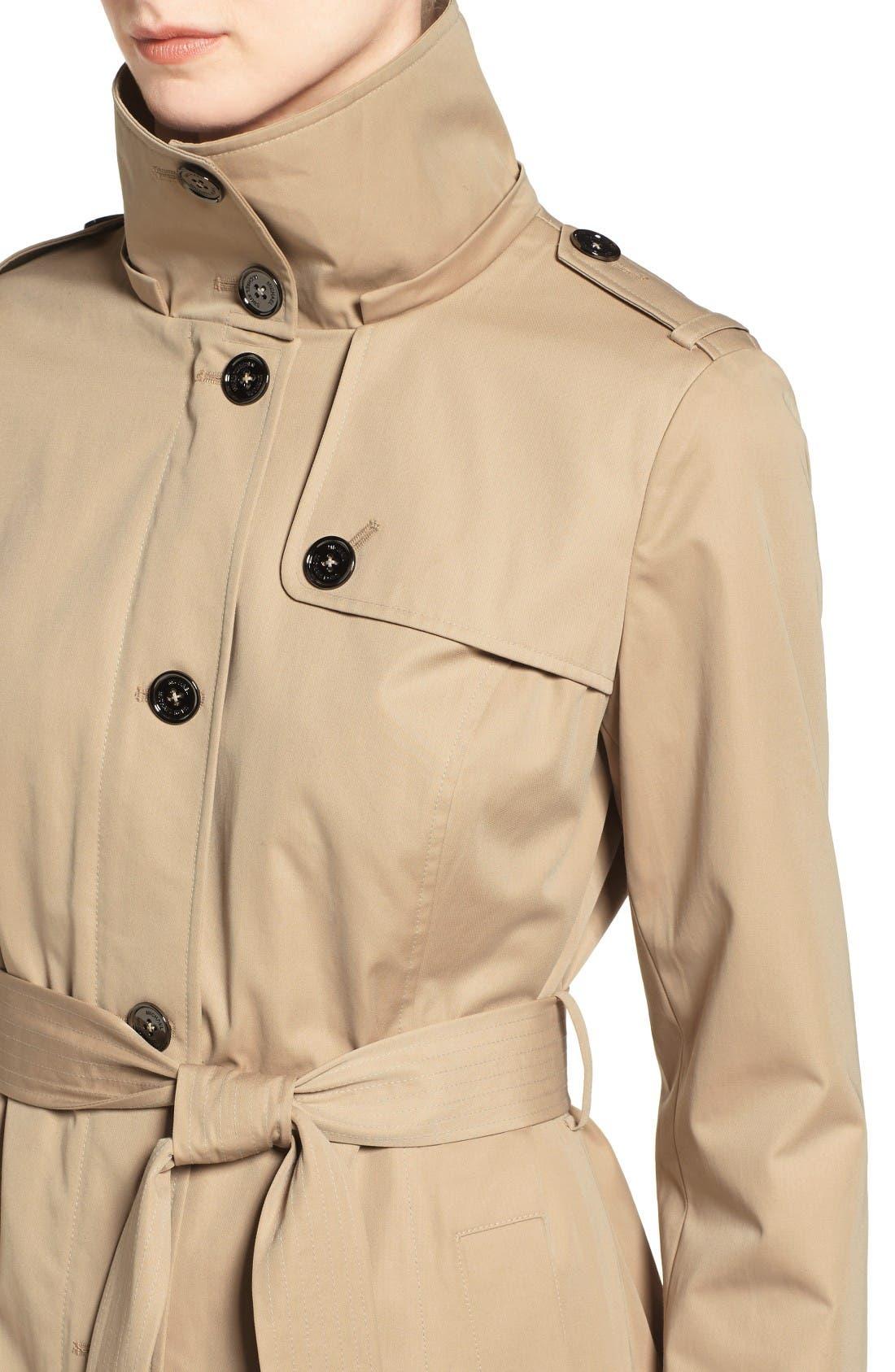 Alternate Image 4  - MICHAEL Michael Kors Hooded Trench Coat (Regular & Petite)