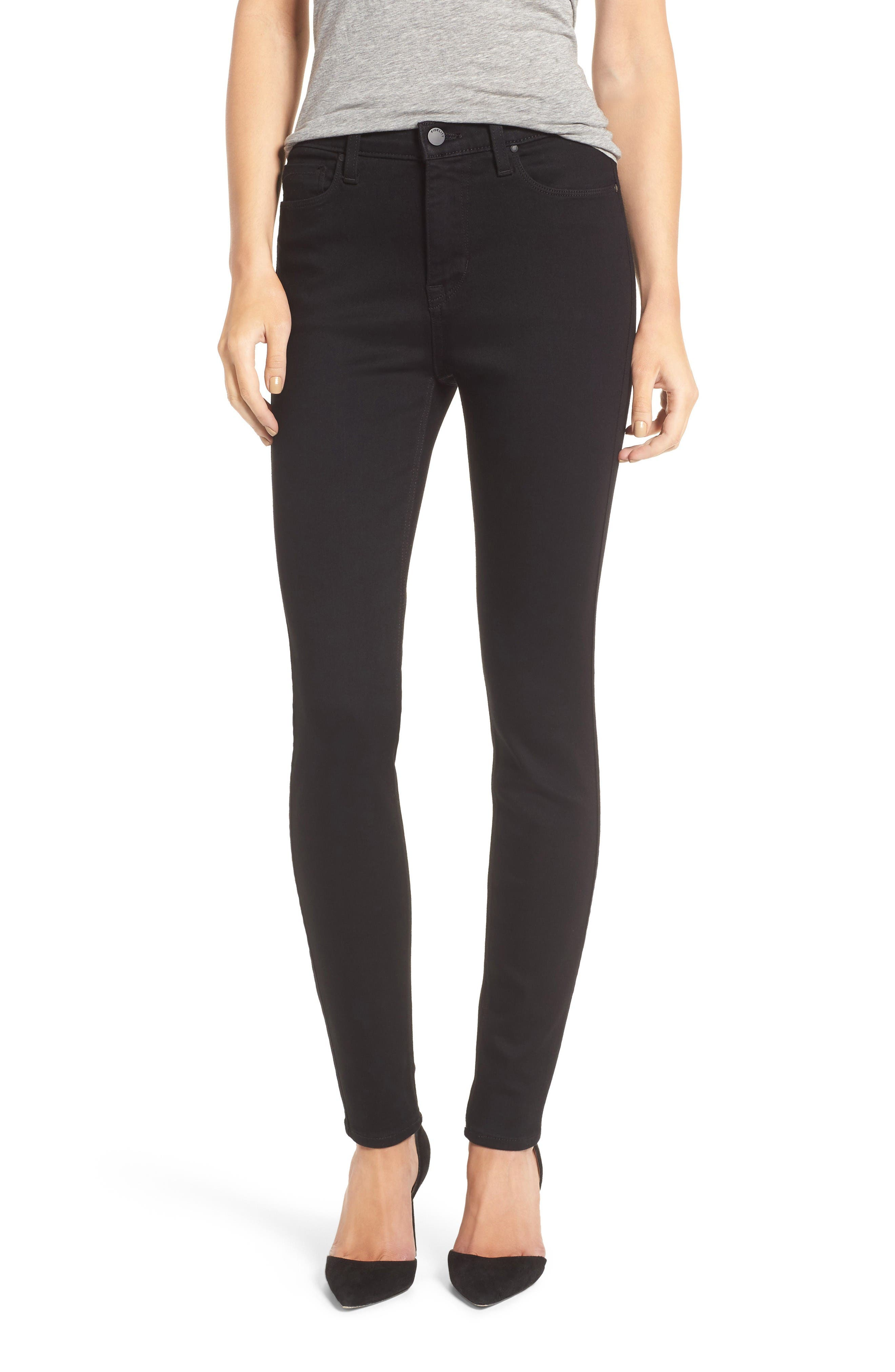 Gwen High Rise Skinny Jeans,                         Main,                         color, Jett