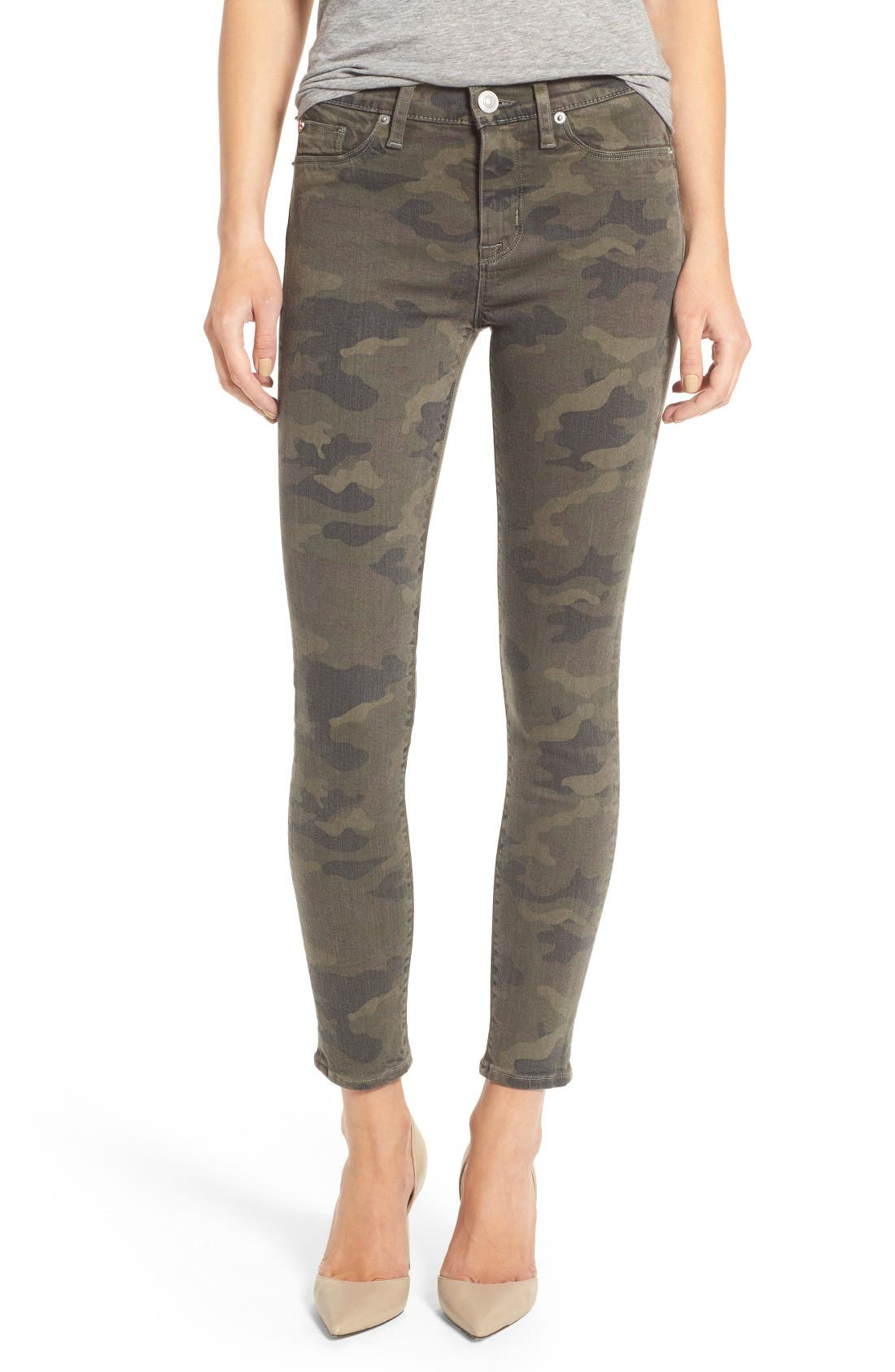 'Nico' Ankle Skinny Jeans,                             Main thumbnail 1, color,                             Infantry Camo