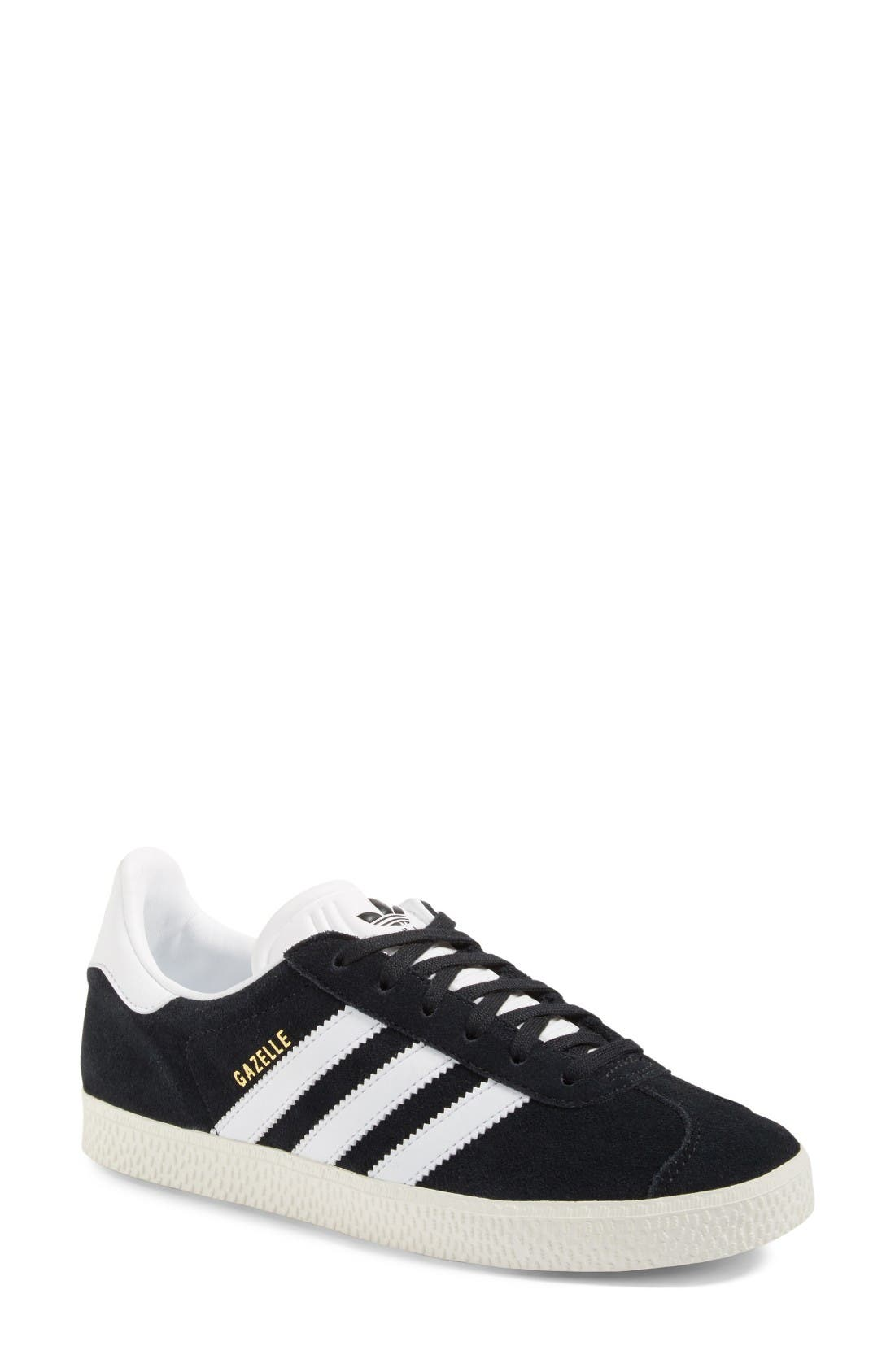 Gazelle Sneaker,                         Main,                         color, Core Black