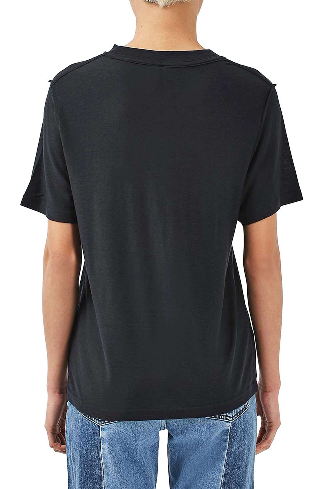Alternate Image 3  - Topshop Boutique Reverse Seam Tee